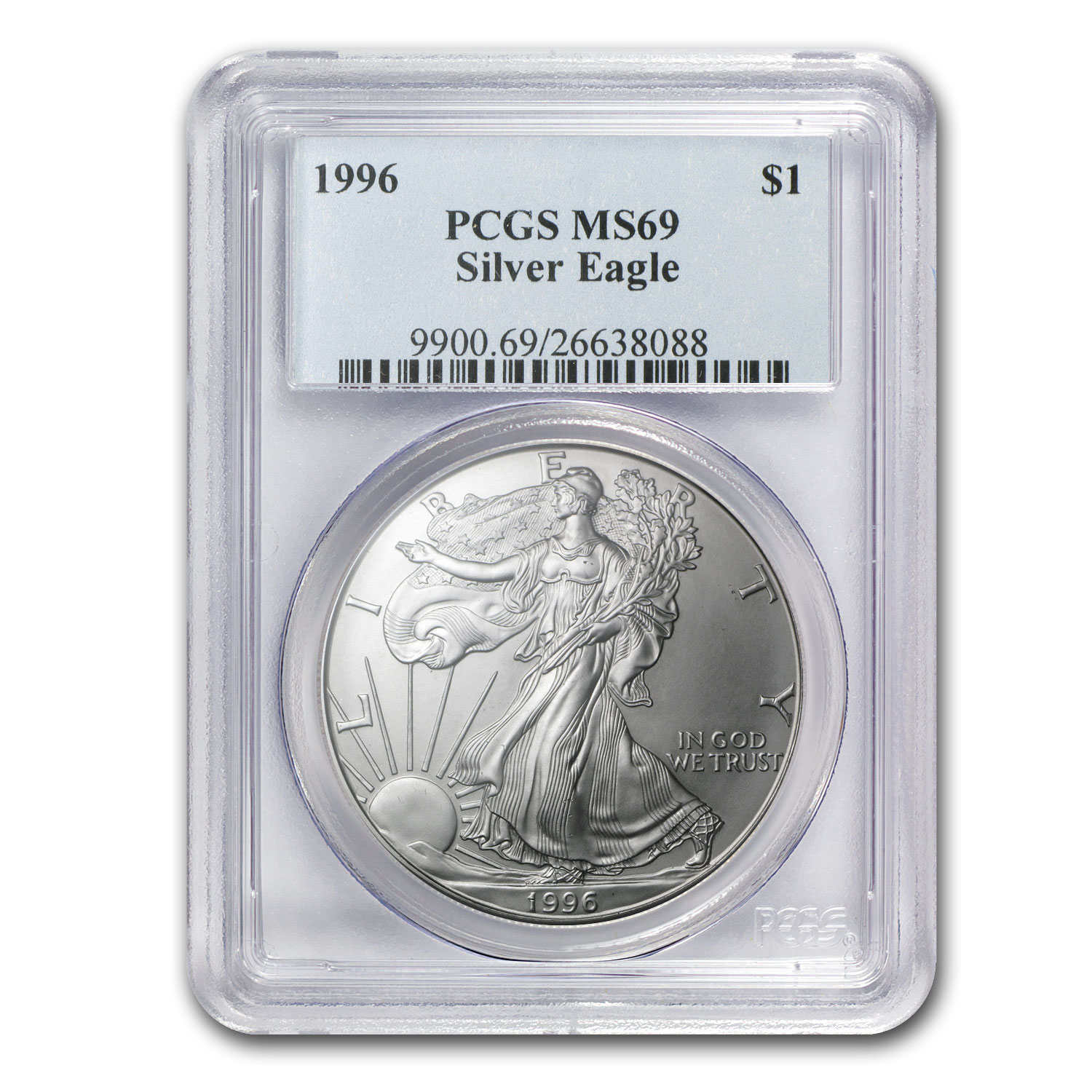 1986-2014 Silver American Eagle Set - MS-69 PCGS - PCGS Box