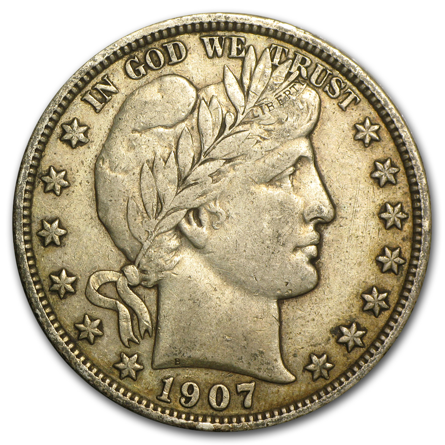 1907 Barber Half Dollar XF