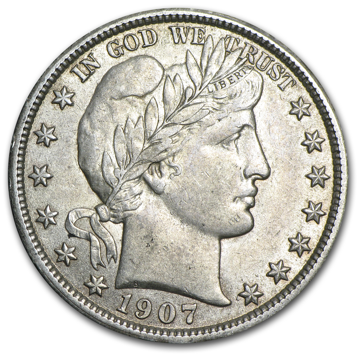 1907 Barber Half Dollar - Almost Uncirculated