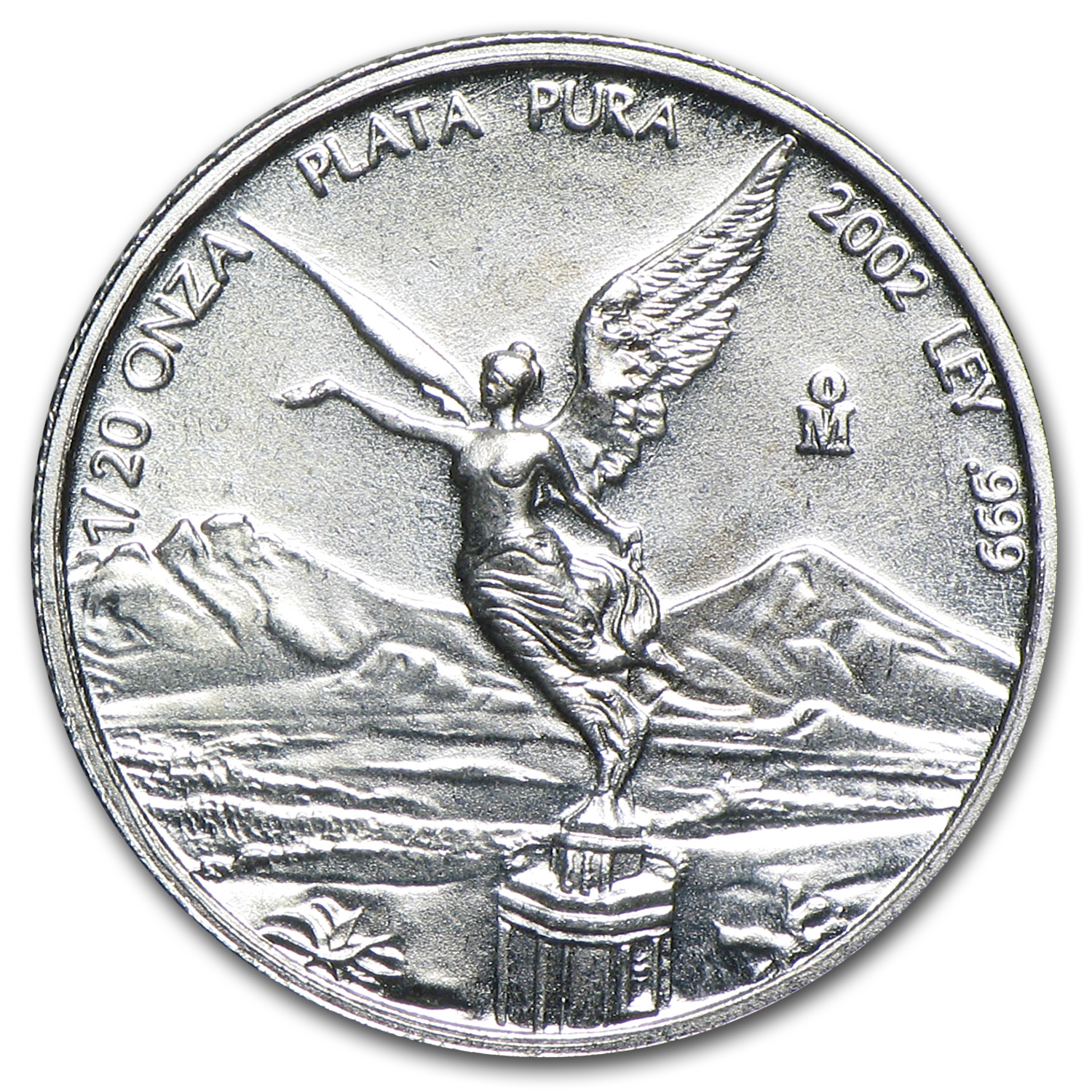2002 1/20 oz Silver Mexican Libertad (Brilliant Uncirculated)