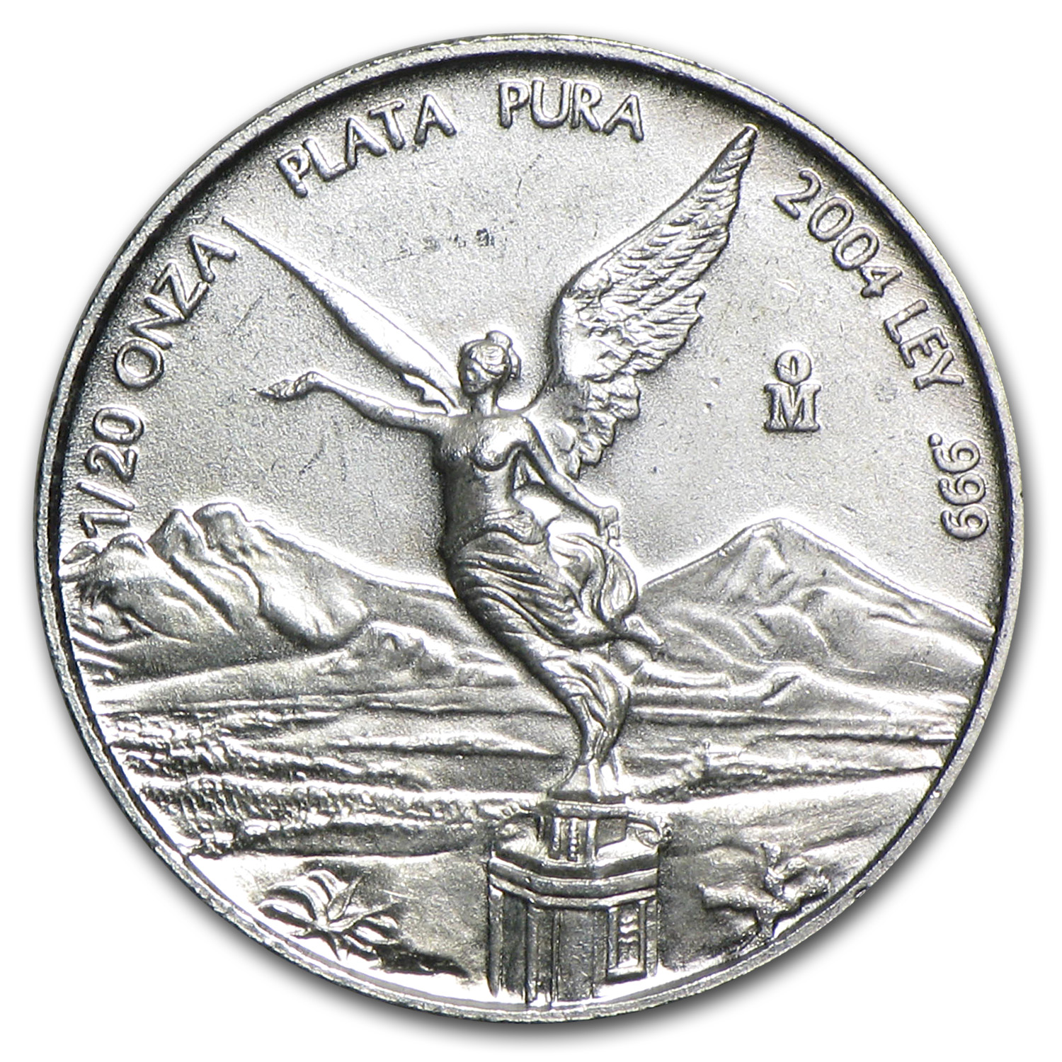 2004 1/20 oz Silver Mexican Libertad (Brilliant Uncirculated)