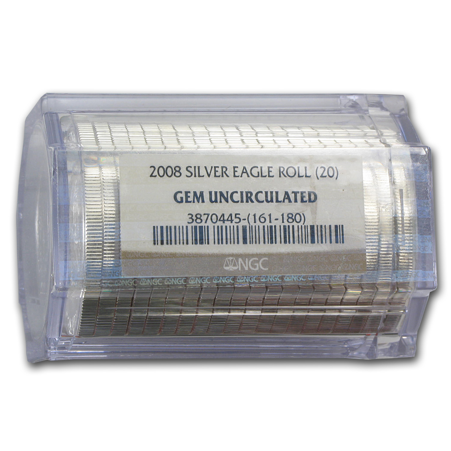 2008 Silver American Eagles - BU NGC - 20-Coin Sealed Tube