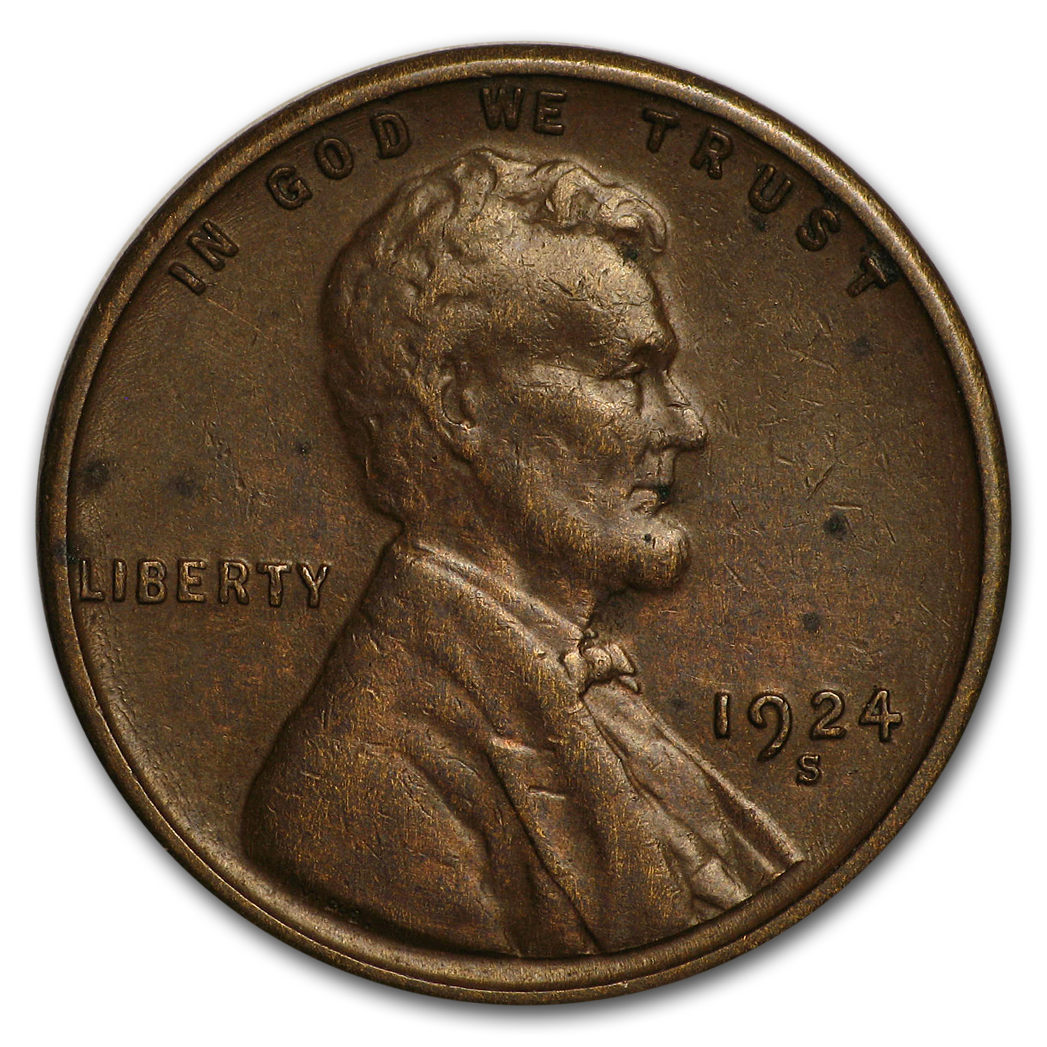 1924-S Lincoln Cent XF