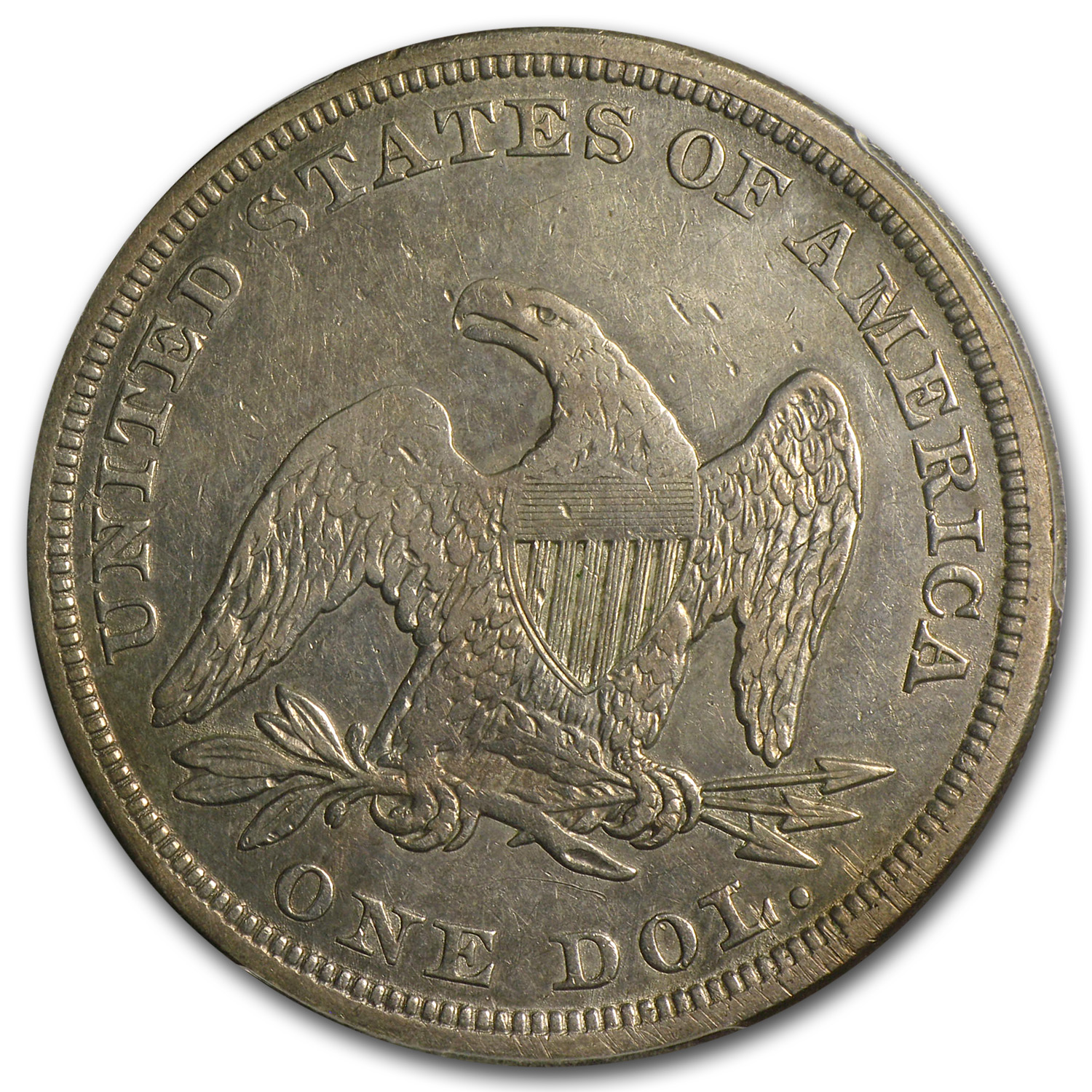 1857 Liberty Seated Dollar VF-35 PCGS