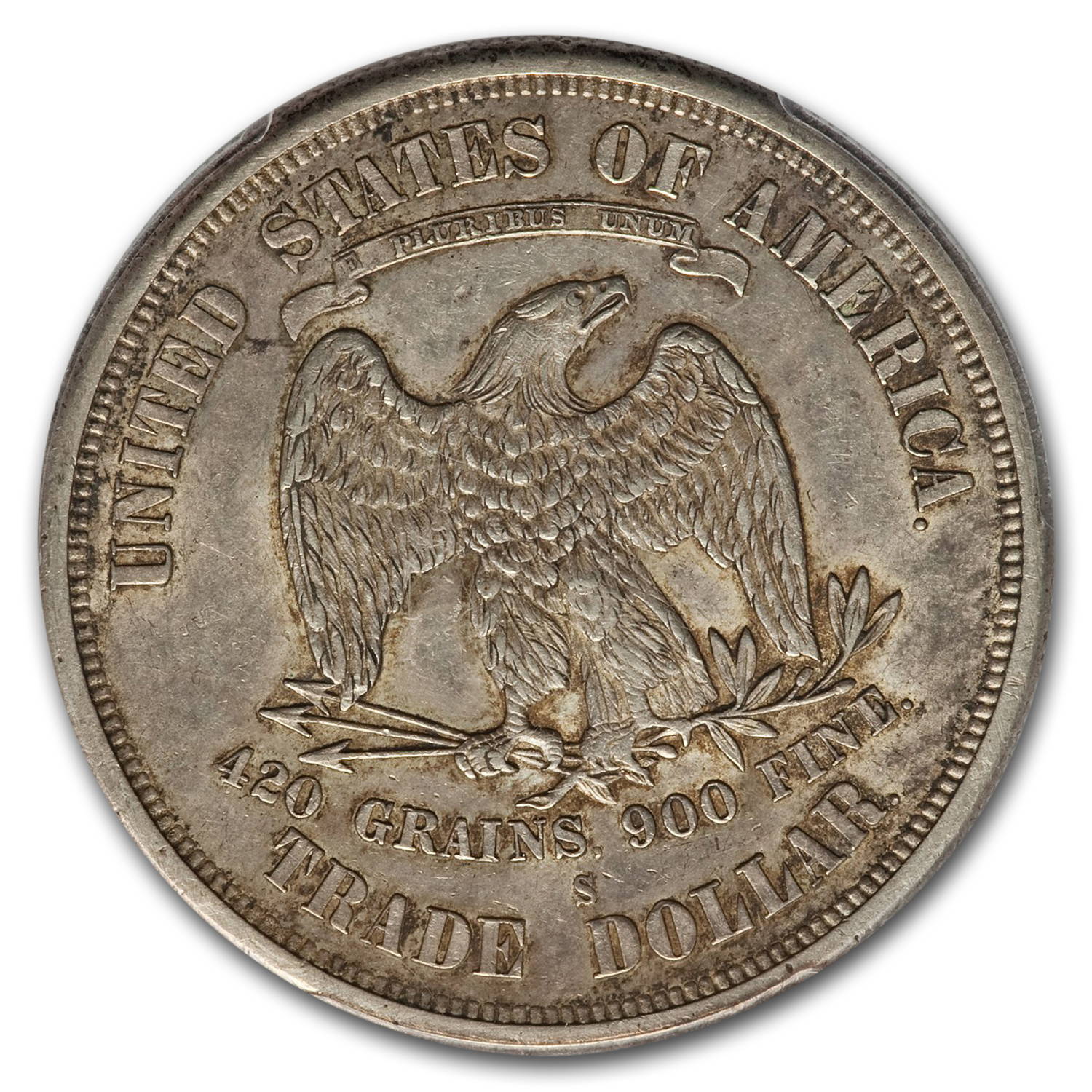 1875-S Trade Dollar - Almost Uncirculated-55 PCGS
