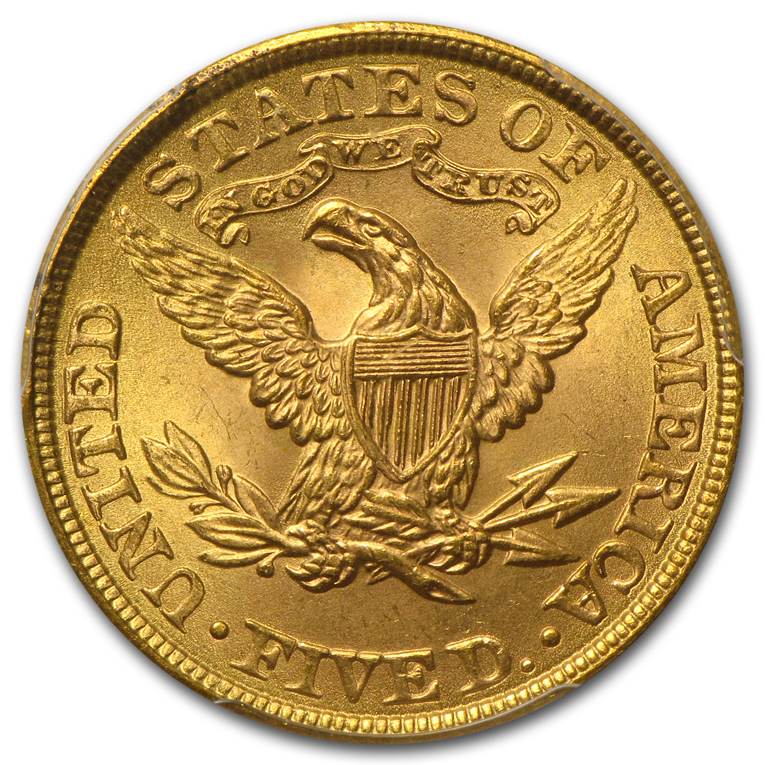 $5 Liberty Gold Half Eagle MS-64 PCGS/NGC (CAC)