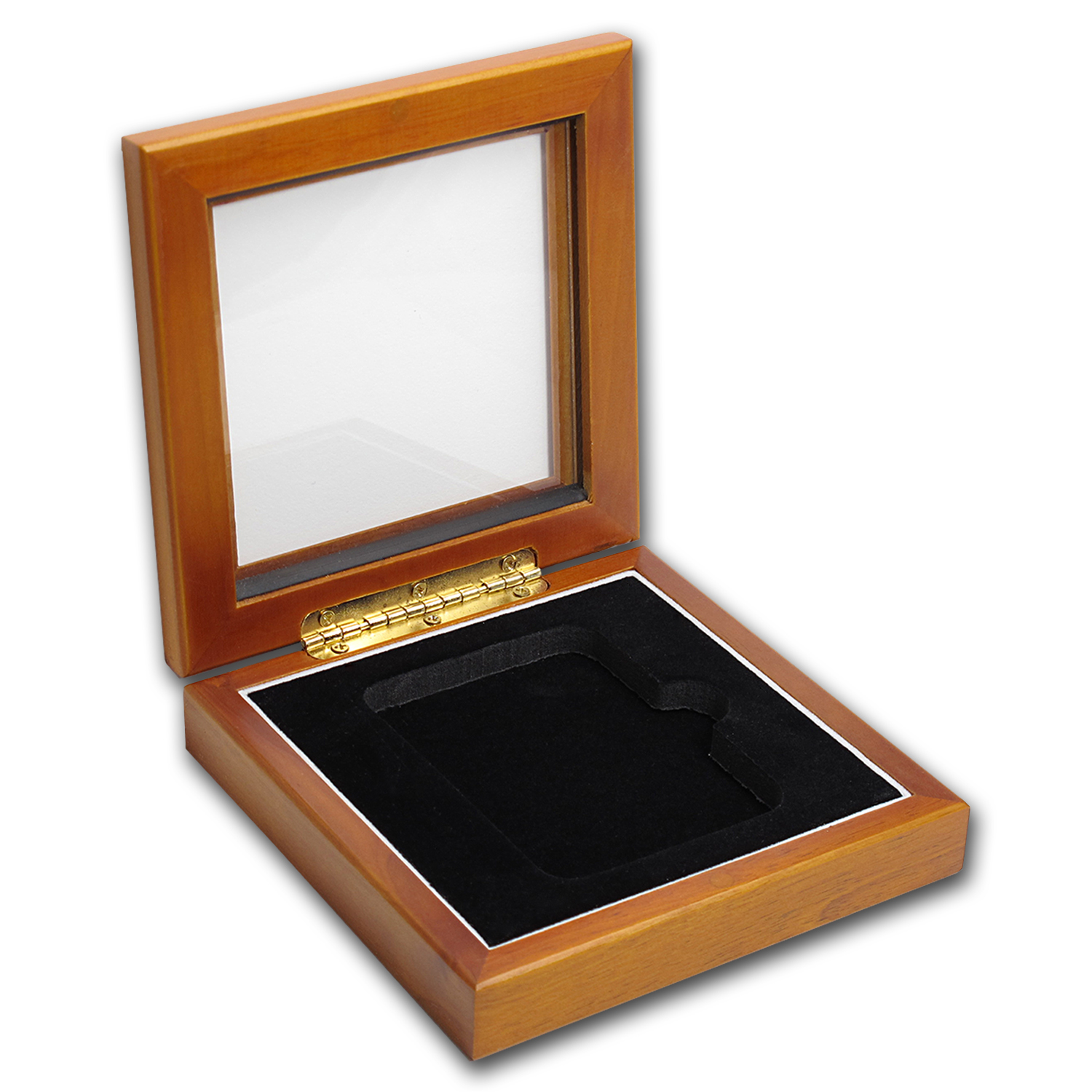Wooden Glass Top Single Slab Gift Box - NGC or PCGS