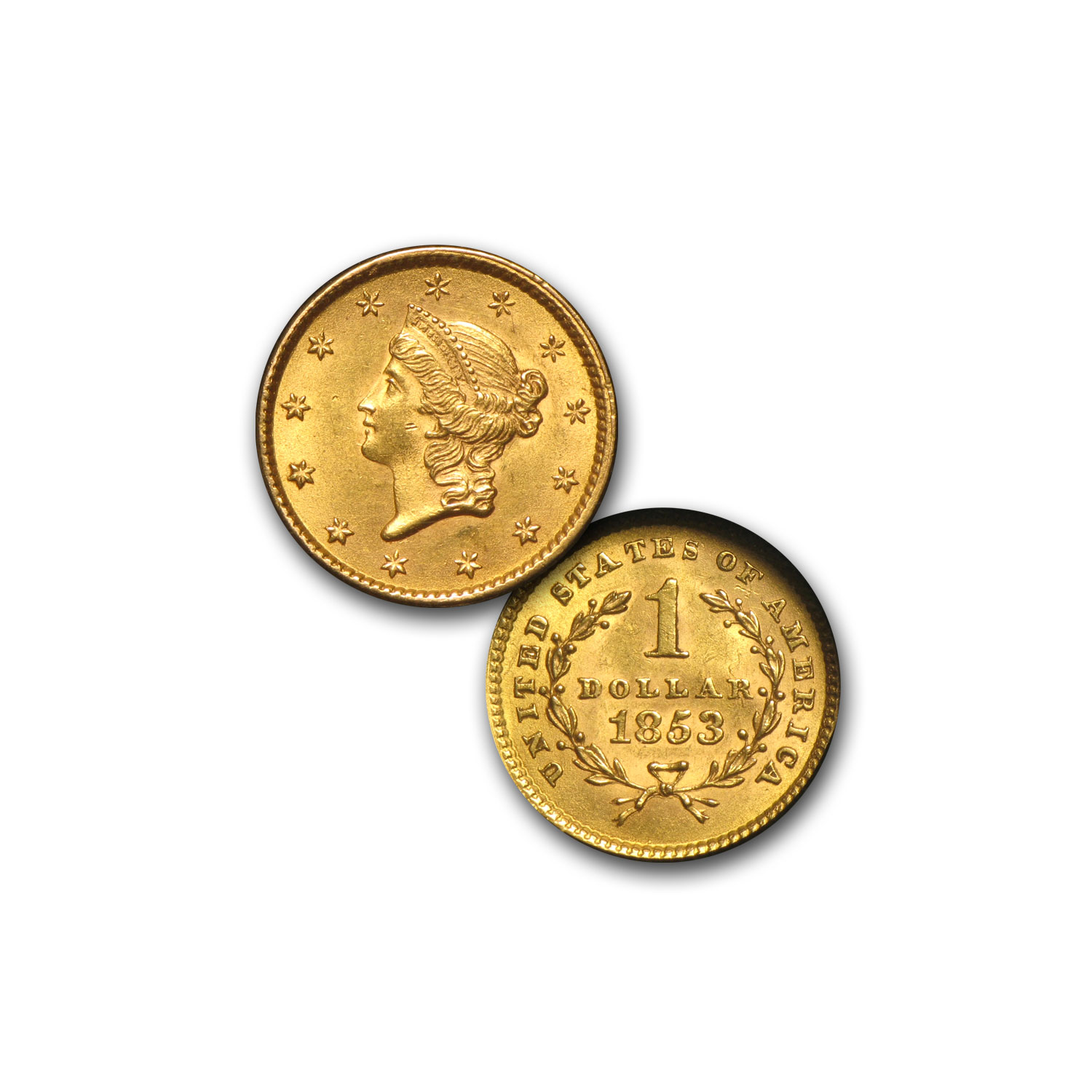 1800s 6-Coin Liberty Gold Type Set AU ($1, $2.50, $5, $10, $20)