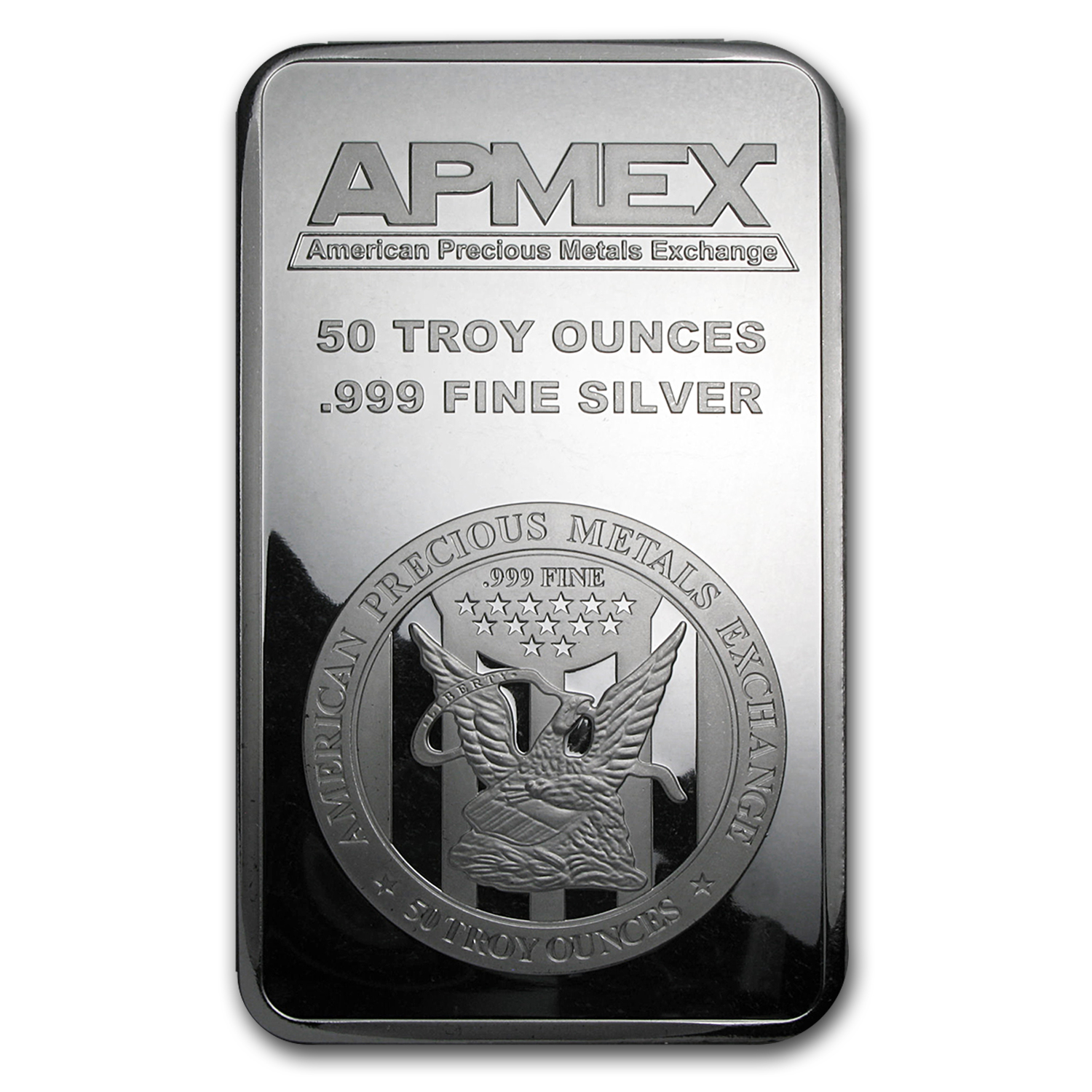 50 oz Silver Bar - APMEX (Struck)