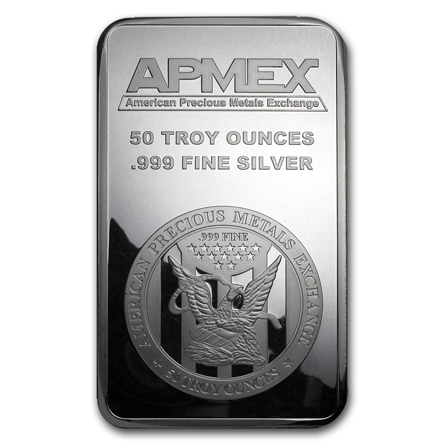50 Oz Silver Bar Apmex Struck 50 Oz Silver Bars