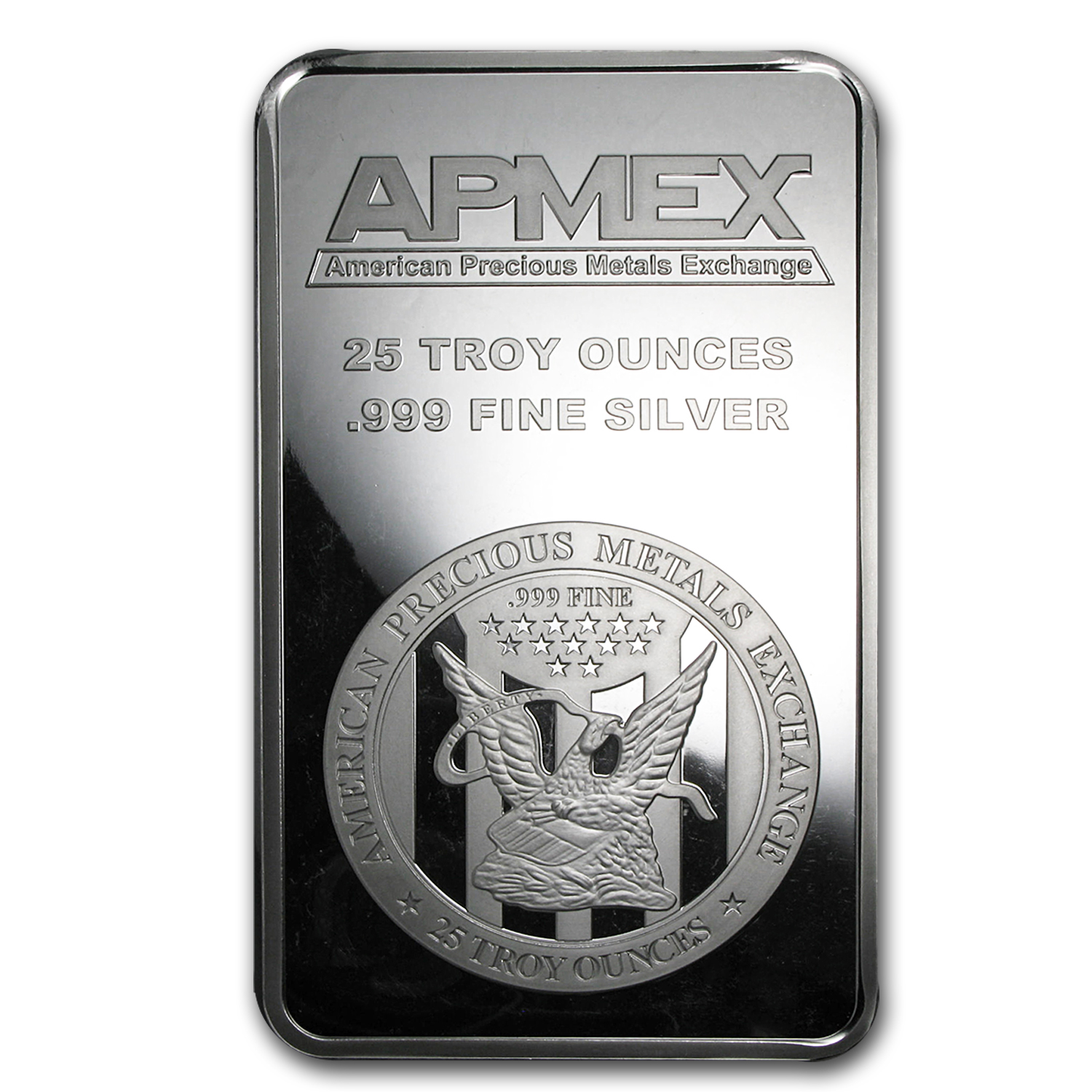 25 oz Silver Bar - APMEX (Struck)