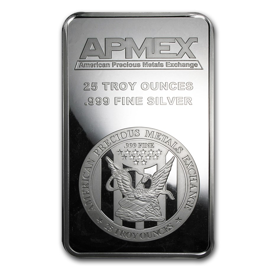 25 Oz Silver Bar Apmex Struck 25 Oz Silver Bars