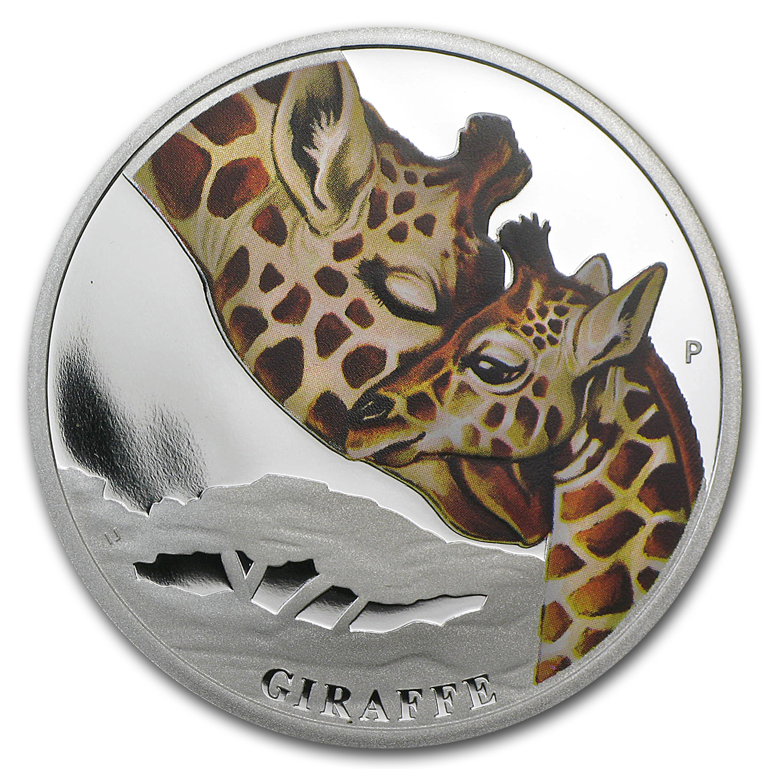 2014 1/2 oz Proof Silver Australian Mother's Love - Giraffe
