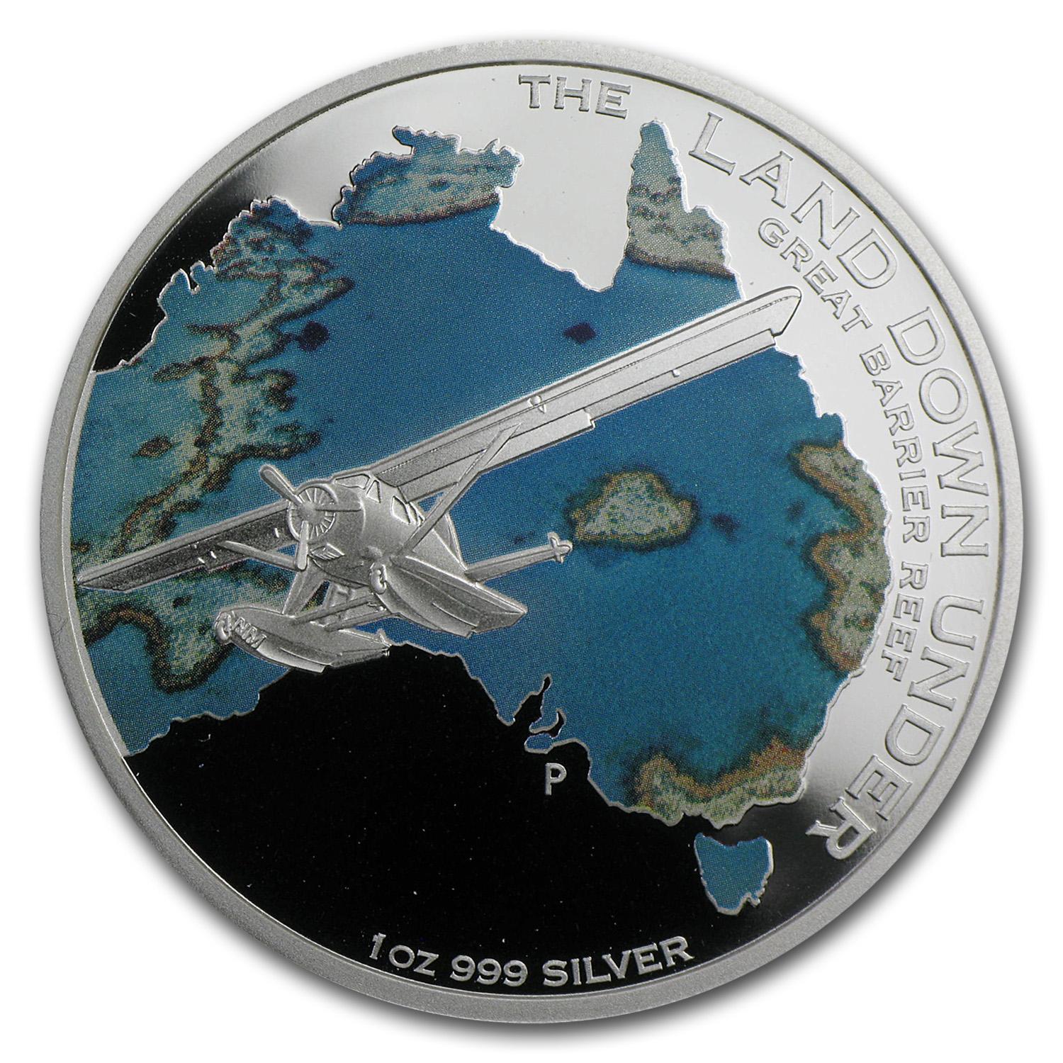 2014 1 oz Silver The Land Down Under Great Barrier Reef Proof