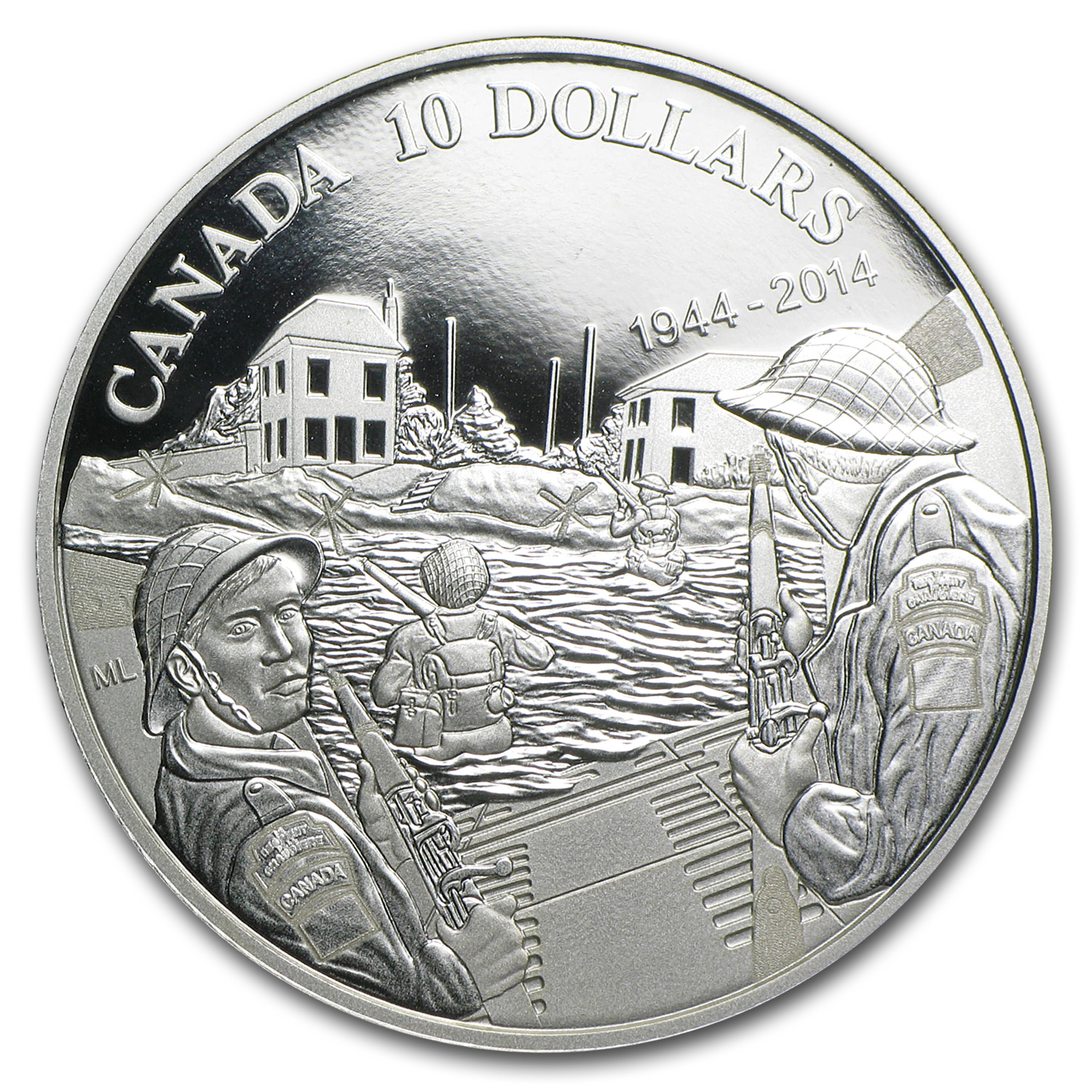 2014 1/2 oz Silver Proof Canadian 70th Anniversary of D-Day