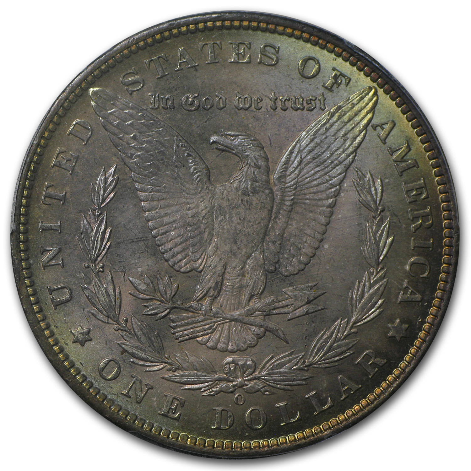 1885-O Morgan Dollar MS-64+ PCGS - Rose Tinted Toning