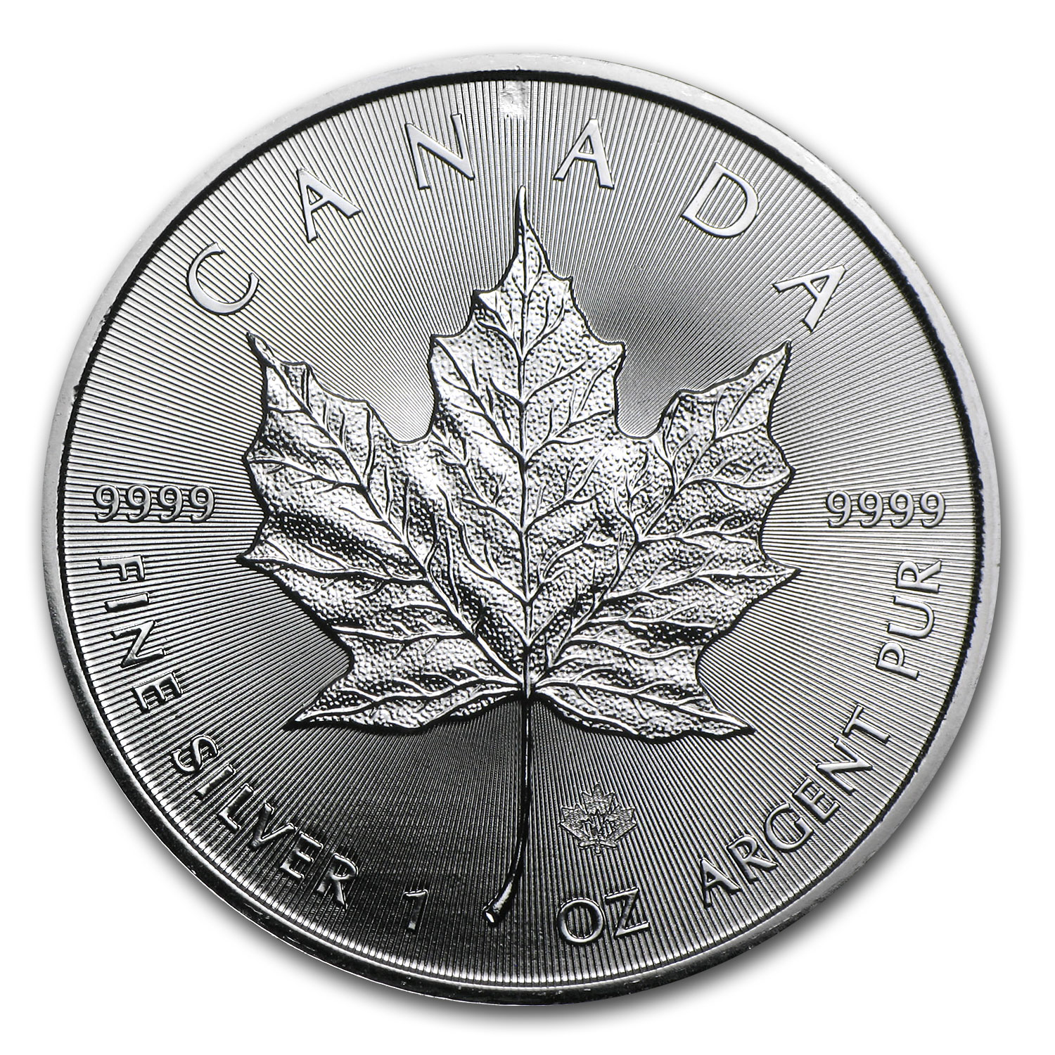 2014 Canada 1 oz Silver Maple Leaf (Reverse Struck Mint Error)