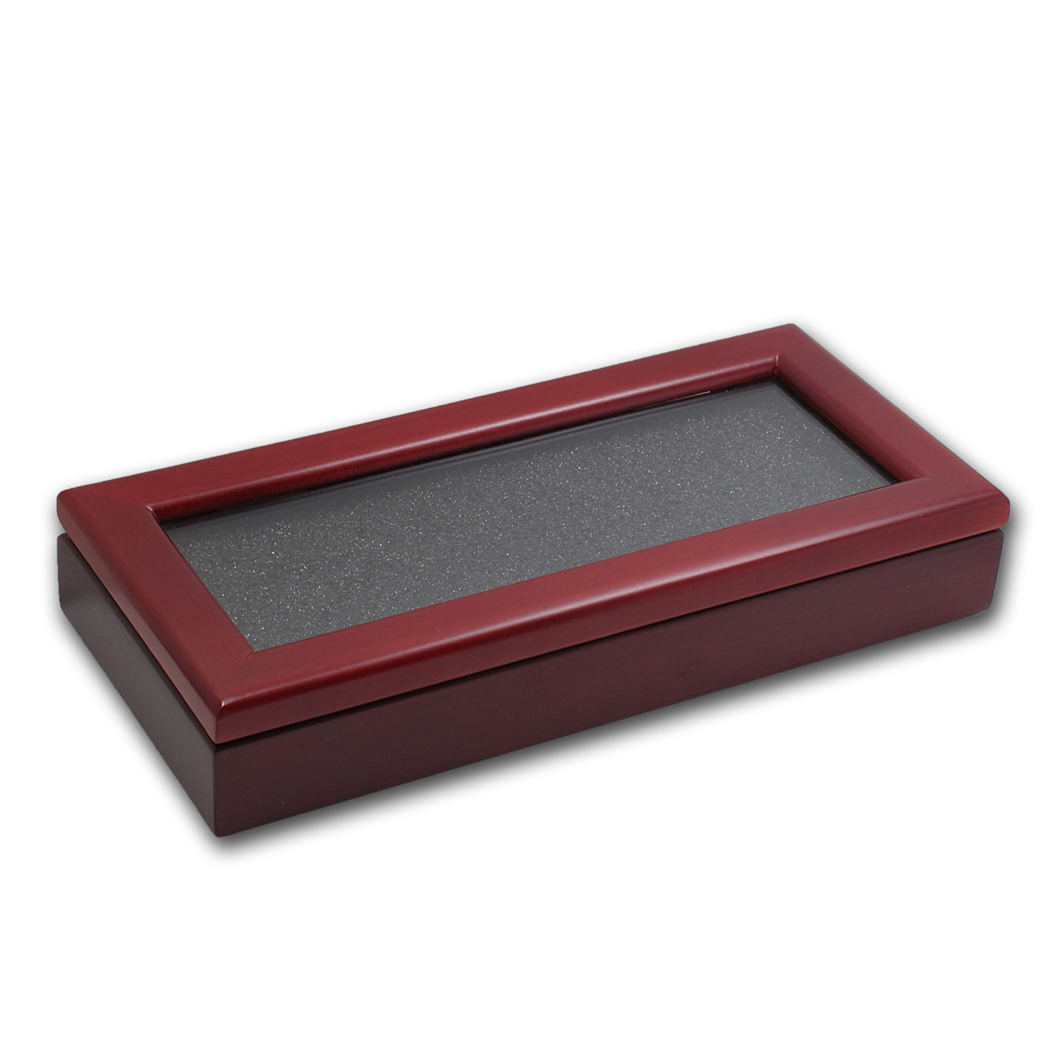 Dark Wood Glass Top Display Box