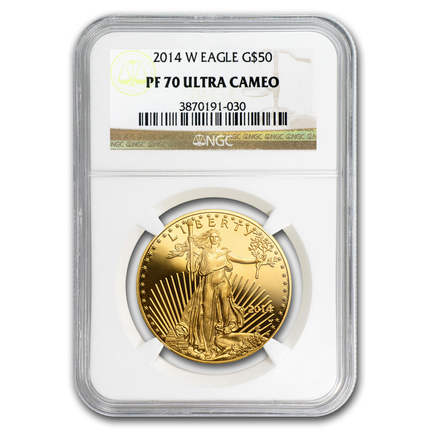 2014-W 1 oz Proof Gold American Eagle PF-70 UCAM NGC