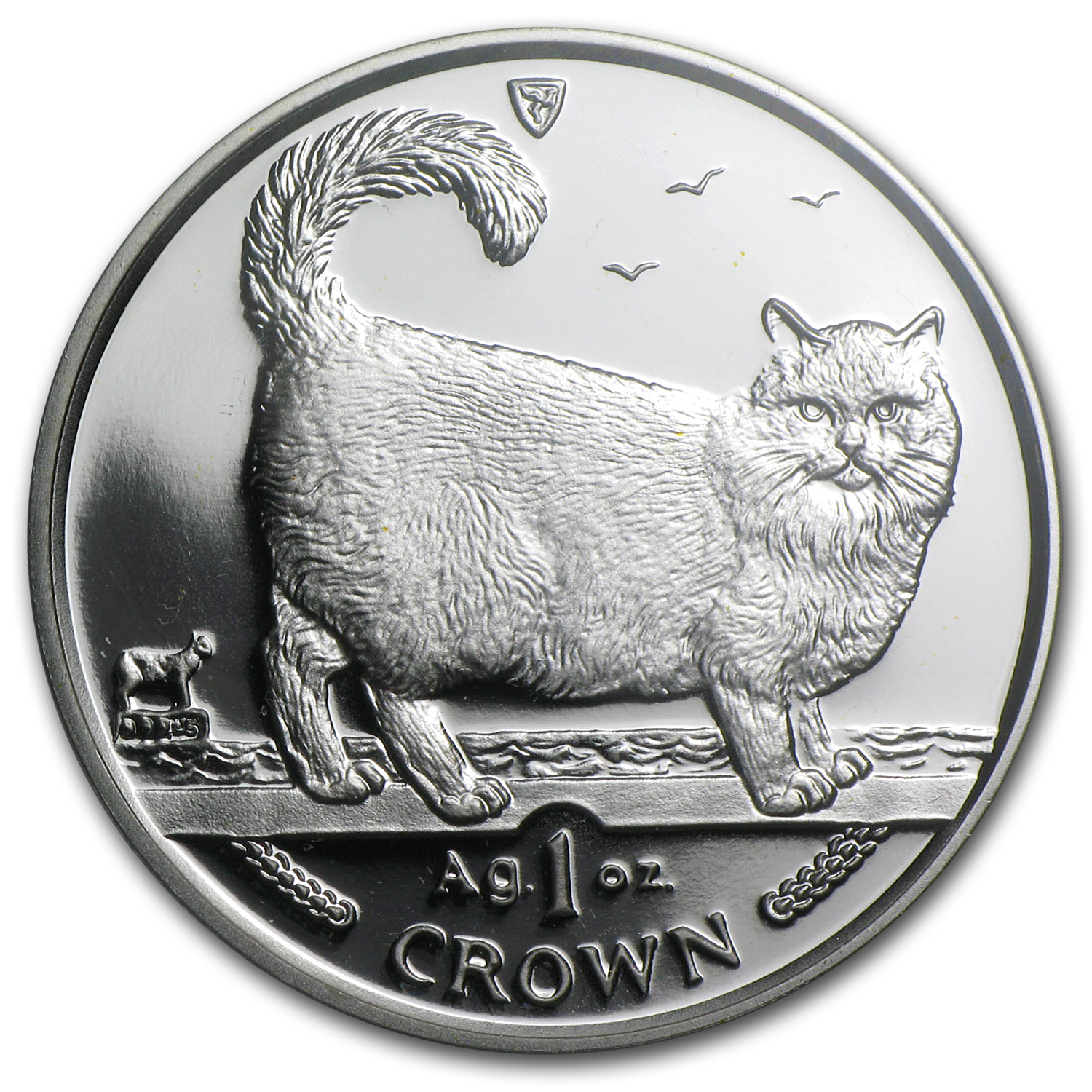 1998 Isle of Man Silver 1 Crown Birman Cat PR-70 PCGS