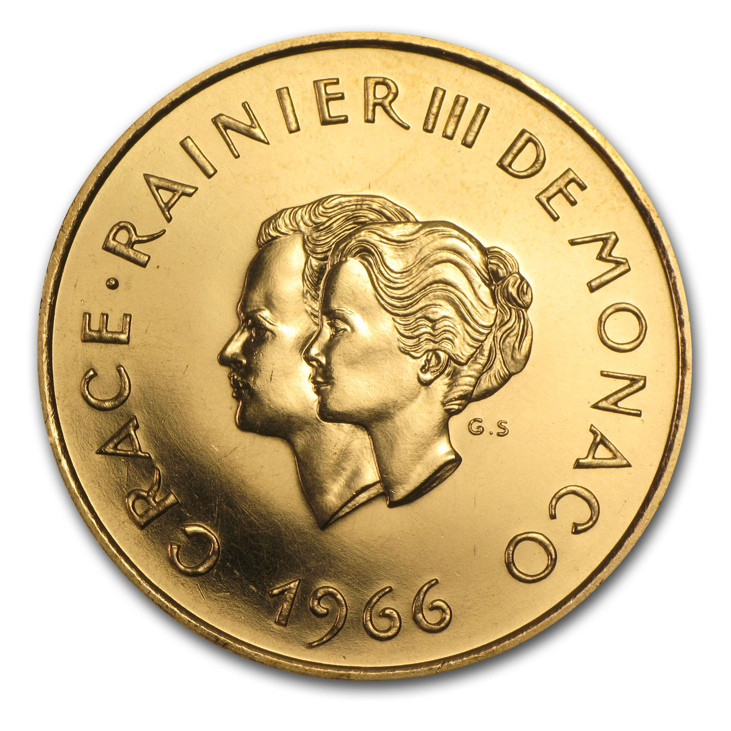 1966 Monaco Gold 200 Francs Wedding Anniversary