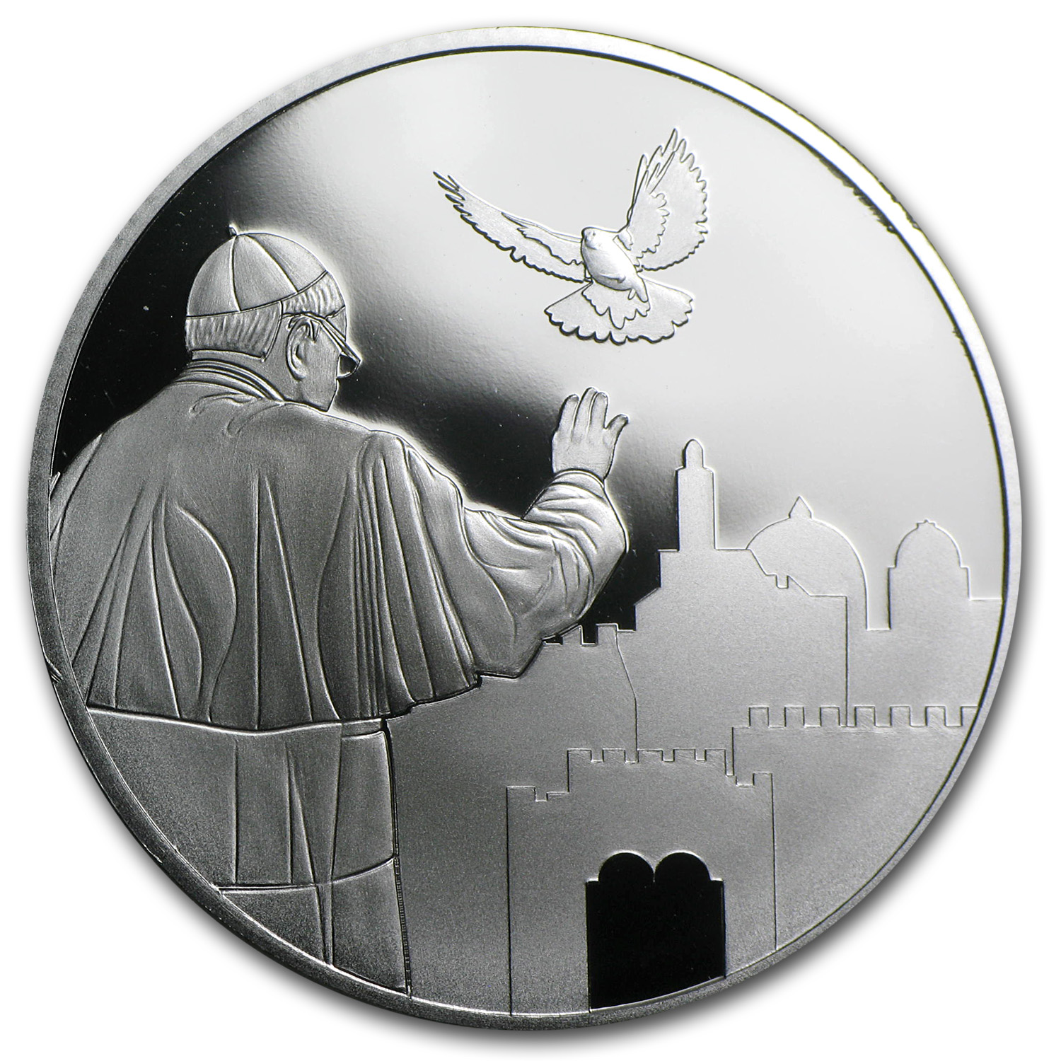 2014 Pope Francis Visit to the Holy Land 1 oz Silver .999