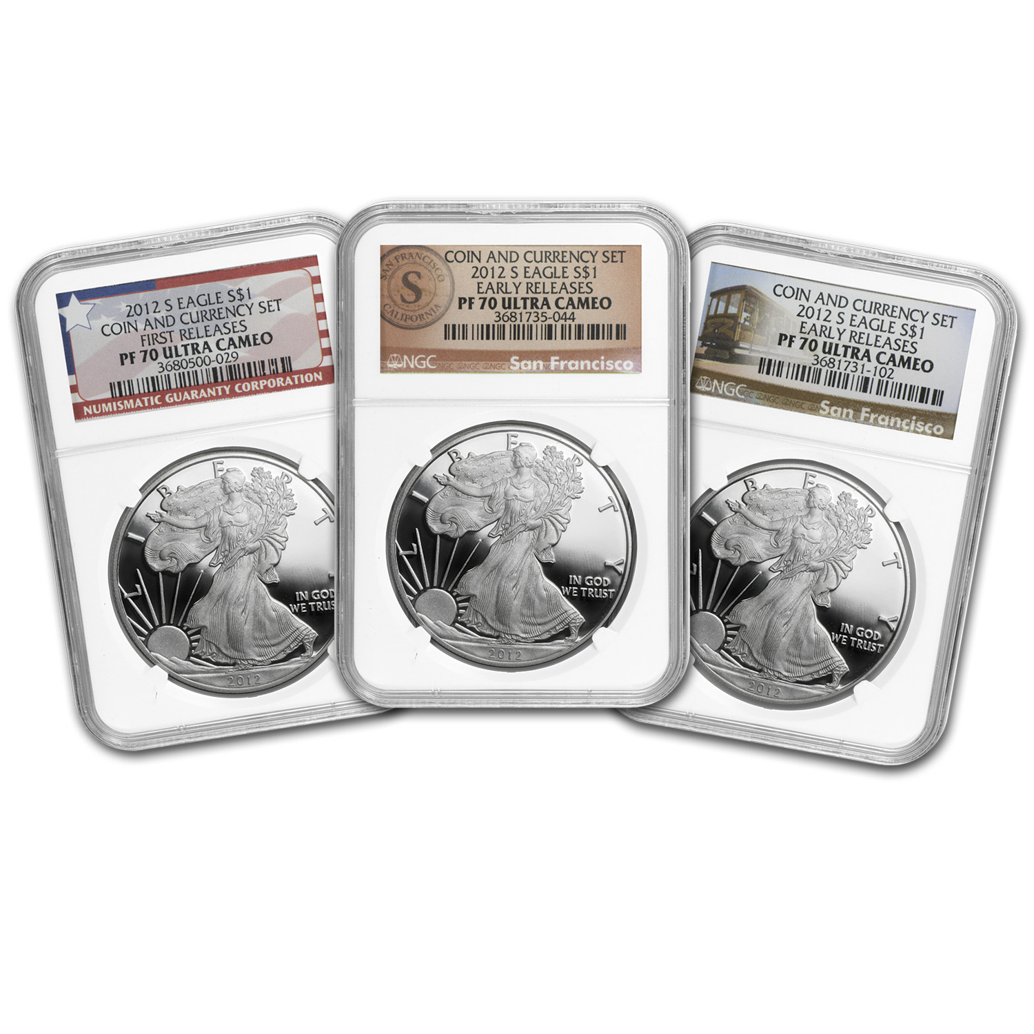 2012-S Prf Silver Eagle Making History Coin & Currency PF-70 NGC
