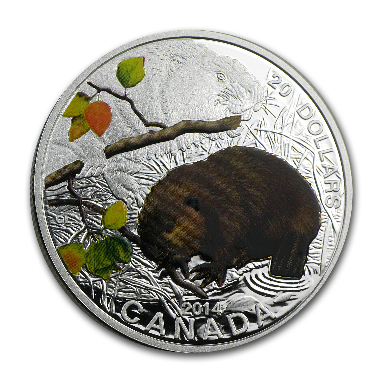 2014 1 oz Silver Canadian $20 Baby Animals - The Beaver