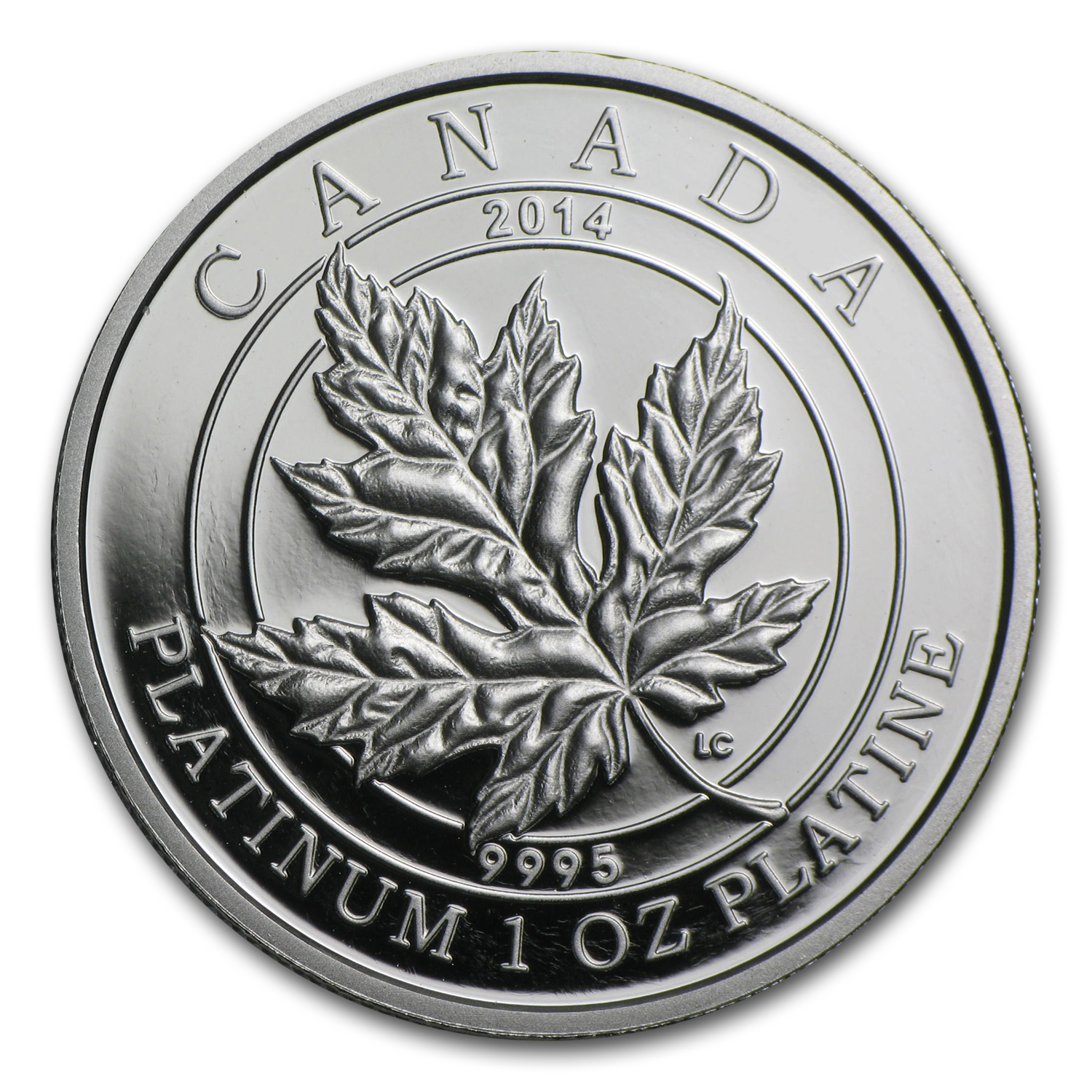 2014 1 oz Proof Platinum Canadian $300 Maple Leaf Forever