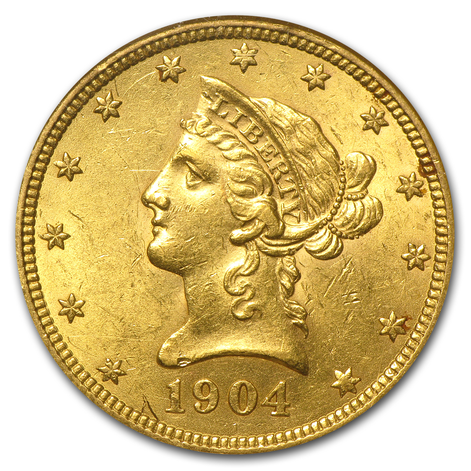 1904-O $10 Liberty Gold Eagle - AU-58 NGC