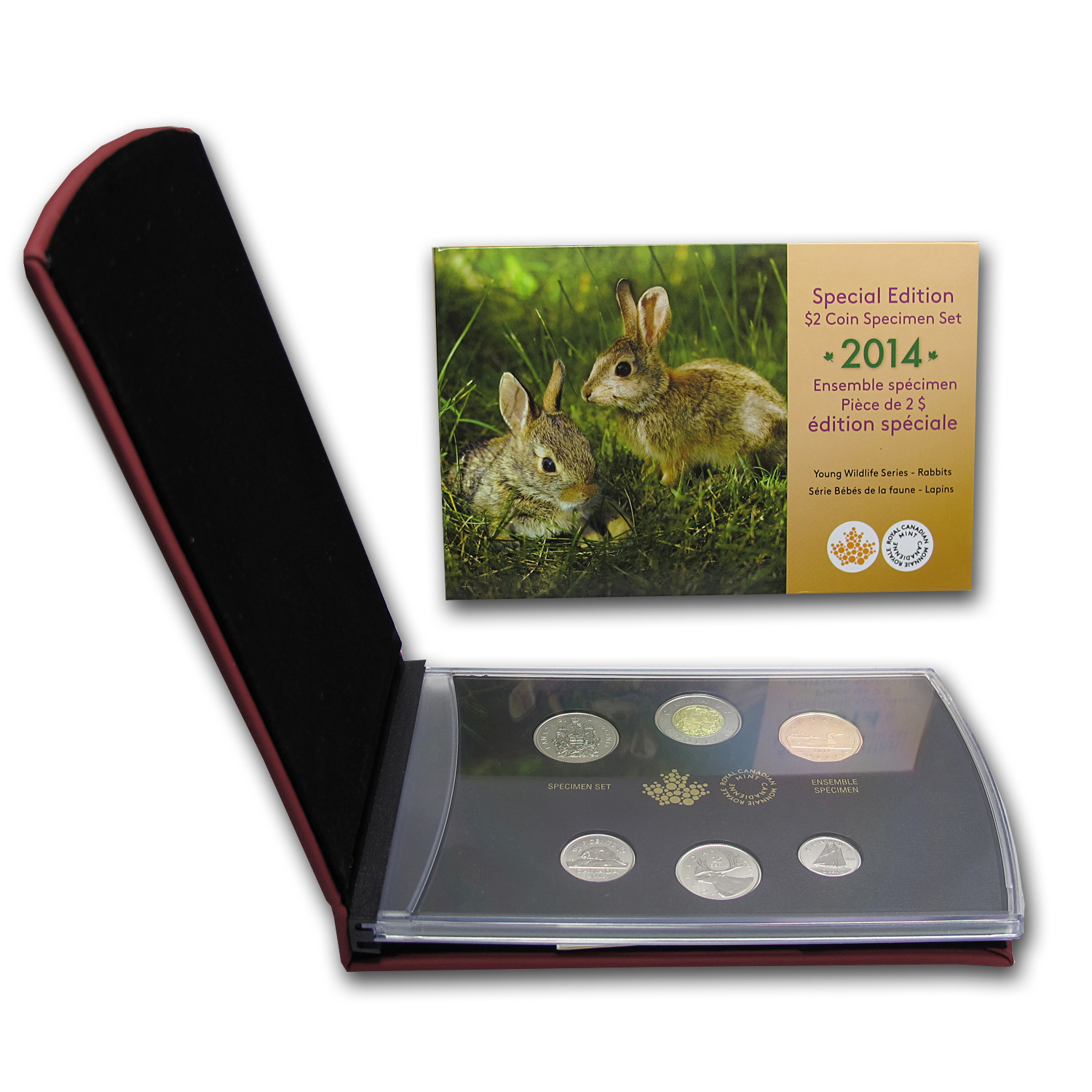 2014 6-Coin Special Edition Baby Rabbits Specimen Set
