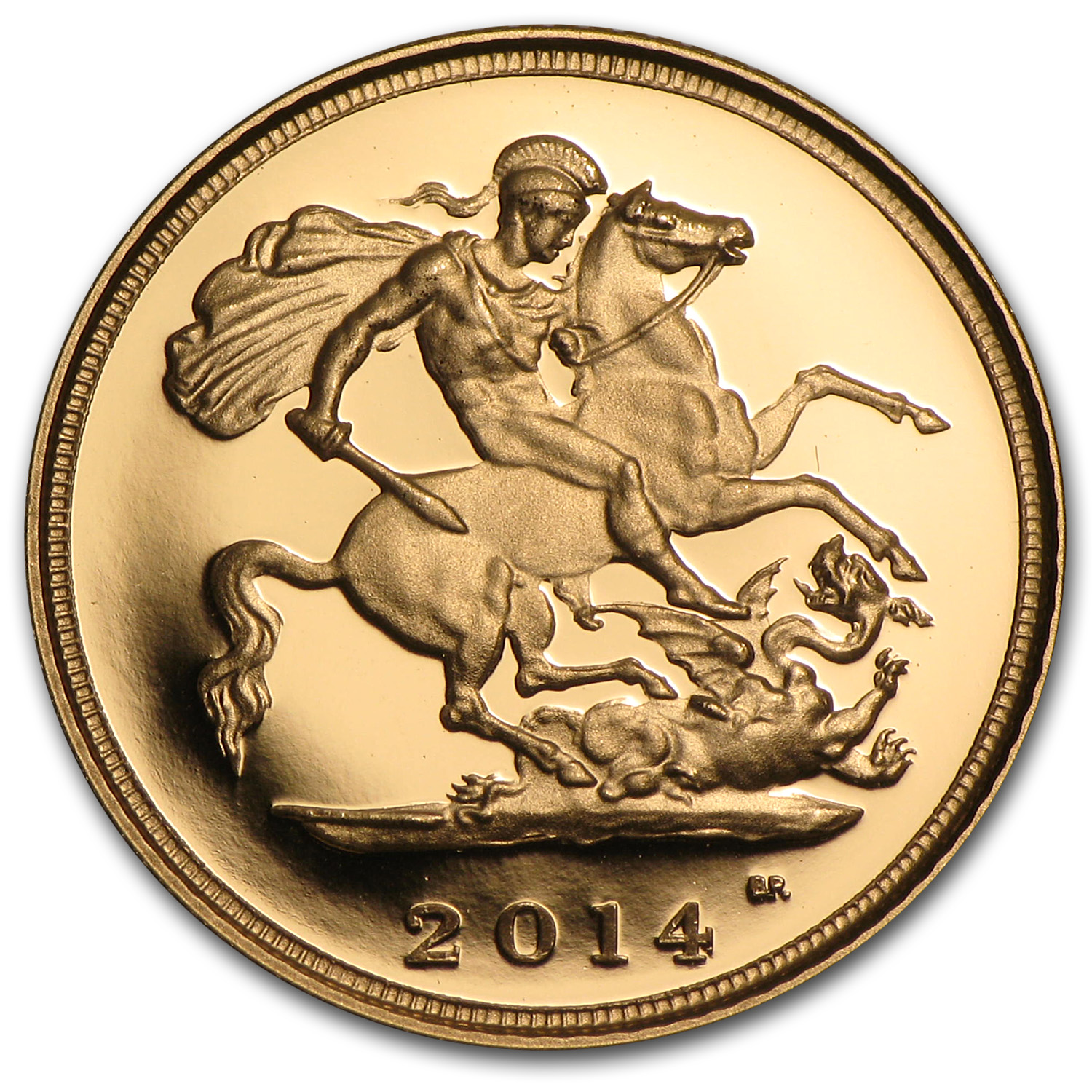 2014 Great Britain Gold 1/2 Sovereign Proof