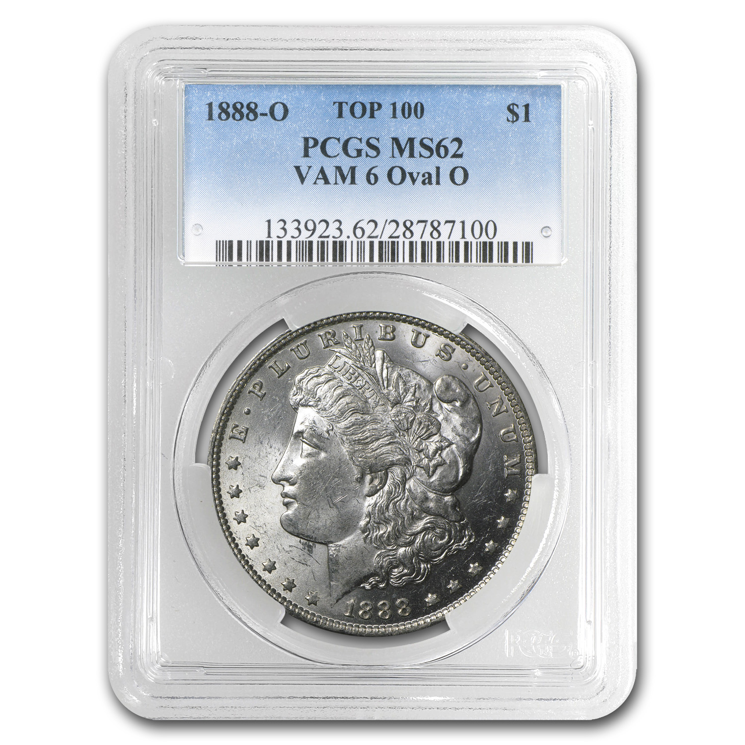 1888-O Morgan Dollar - MS-62 PCGS VAM-6 Oval O Top-100