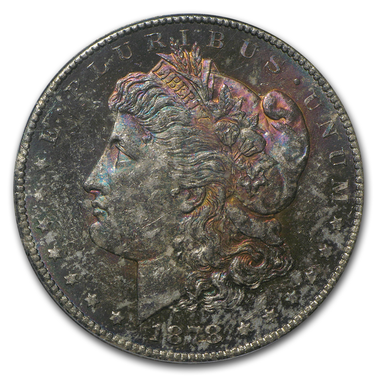 1878-CC Morgan Dollar MS-62 PCGS (CAC, Magenta Splash)