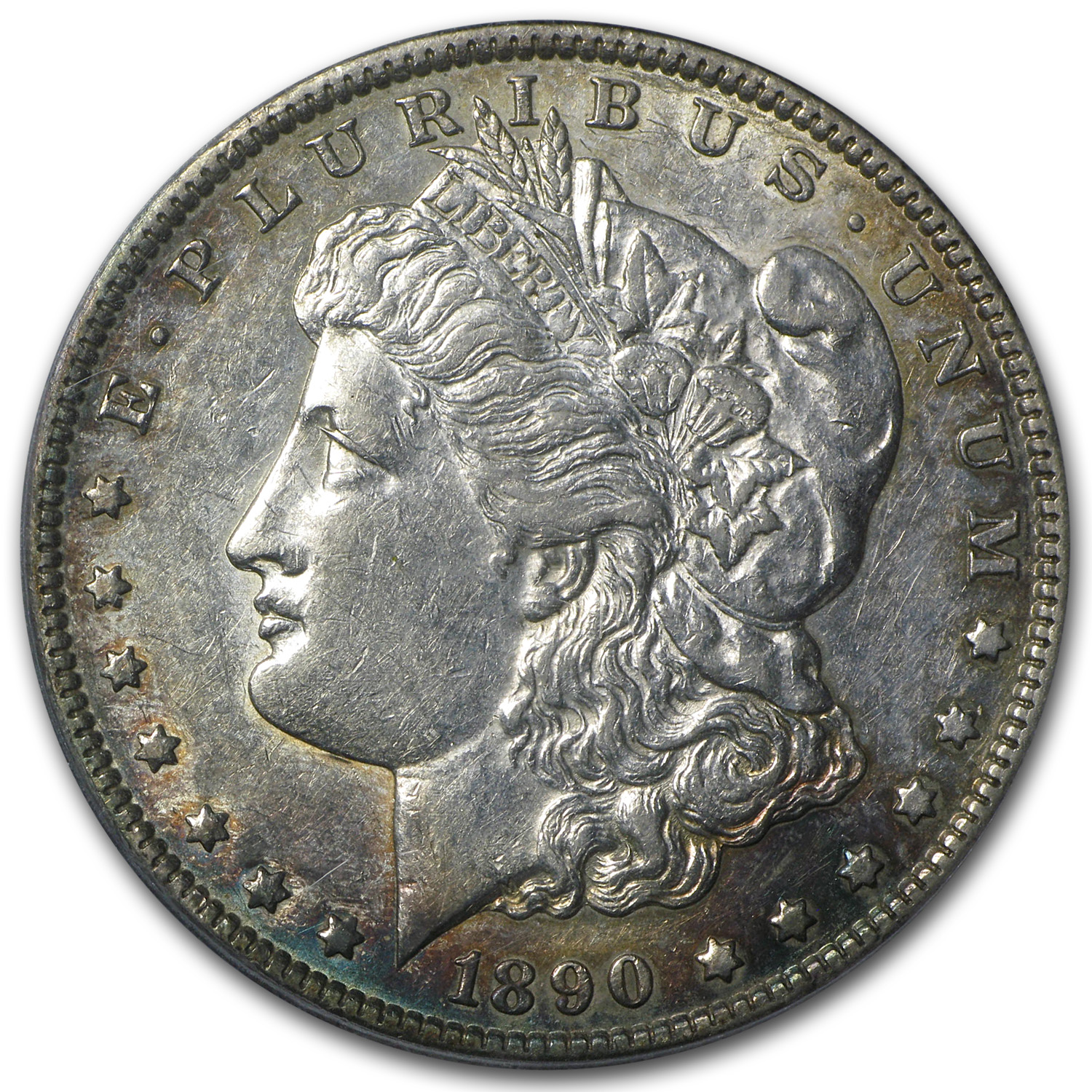 1890-CC Morgan Dollar AU-50 PCGS (CAC, Tailbar, Top 100)