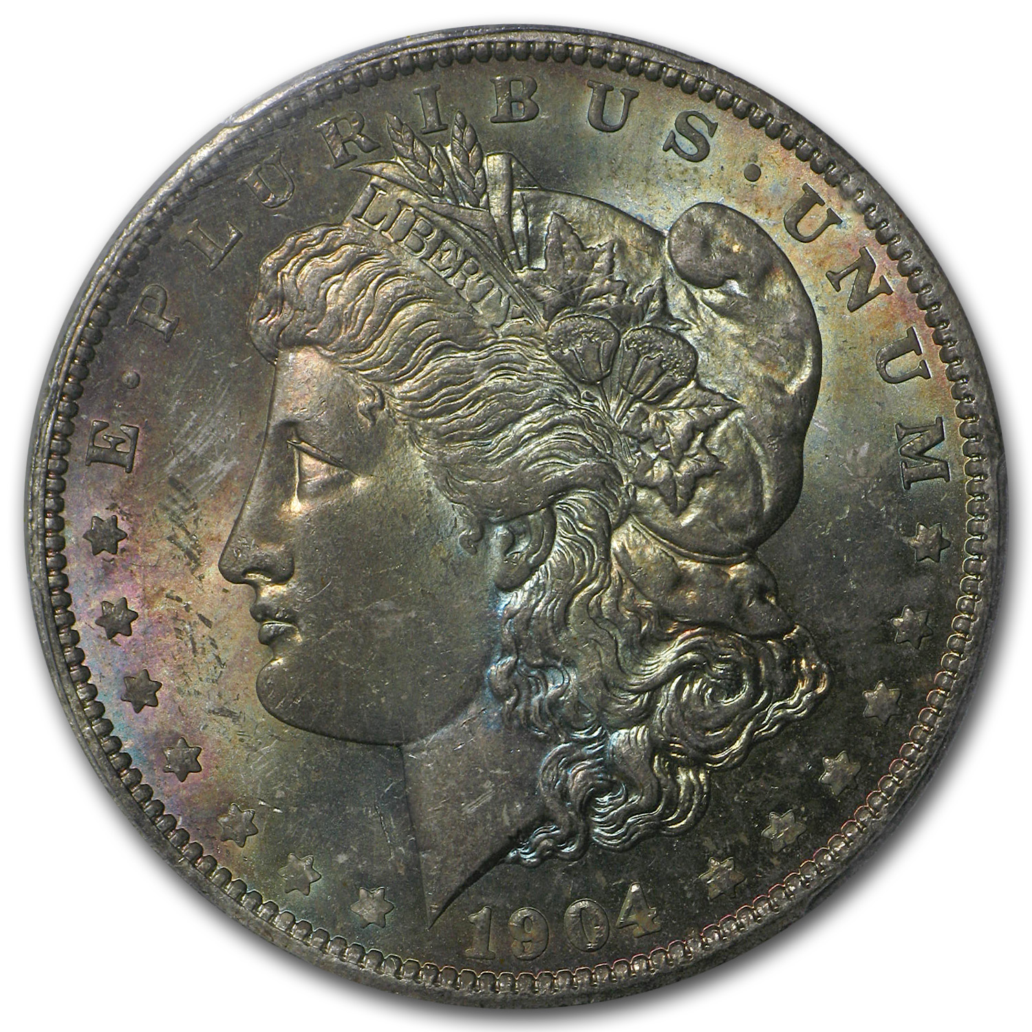 1904-O Morgan Dollar MS-64 PCGS (CAC, Desert Toning)