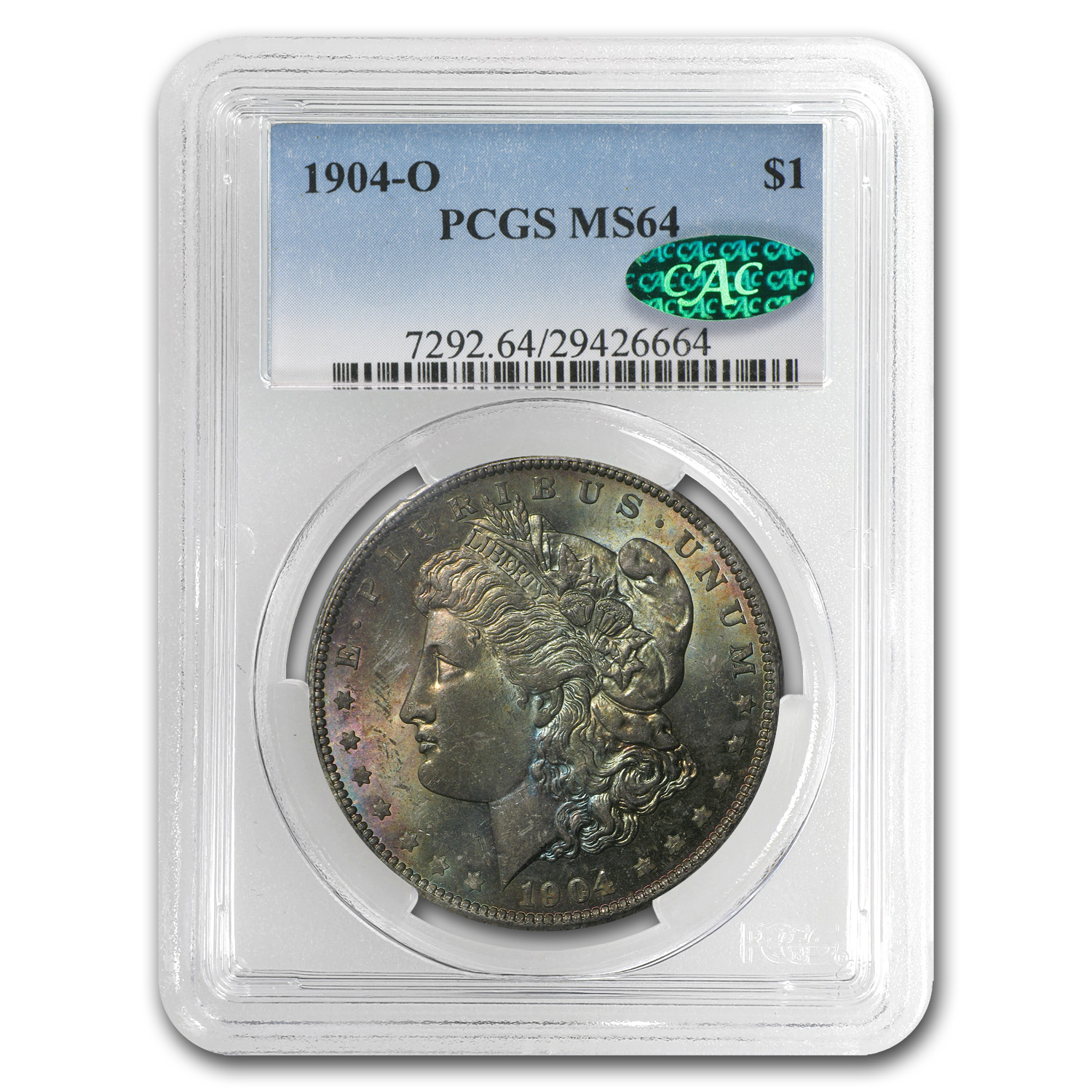1904-O Morgan Dollar MS-64 PCGS CAC - Desert Toning