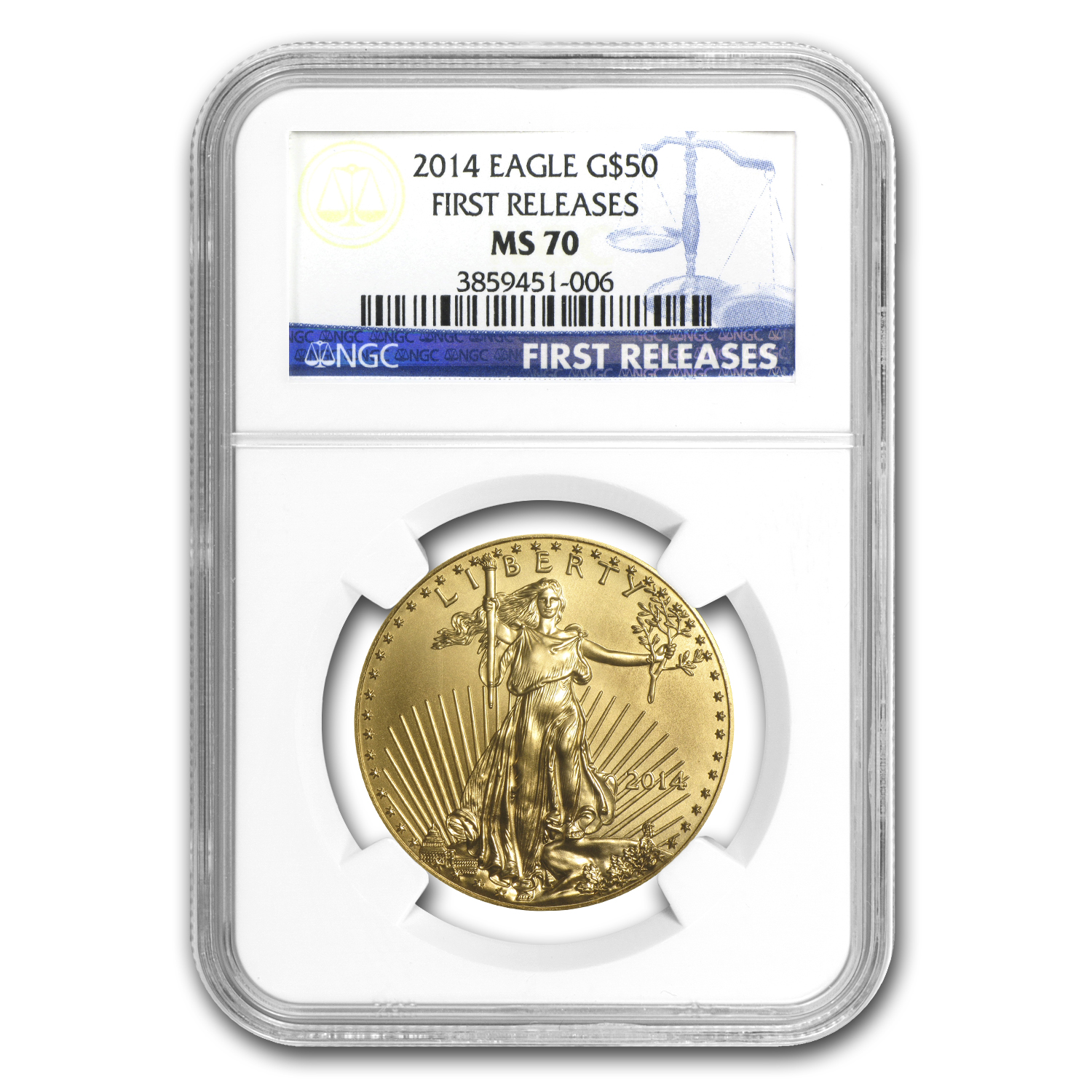 2014 1 oz Gold American Eagle MS-70 NGC First Releases