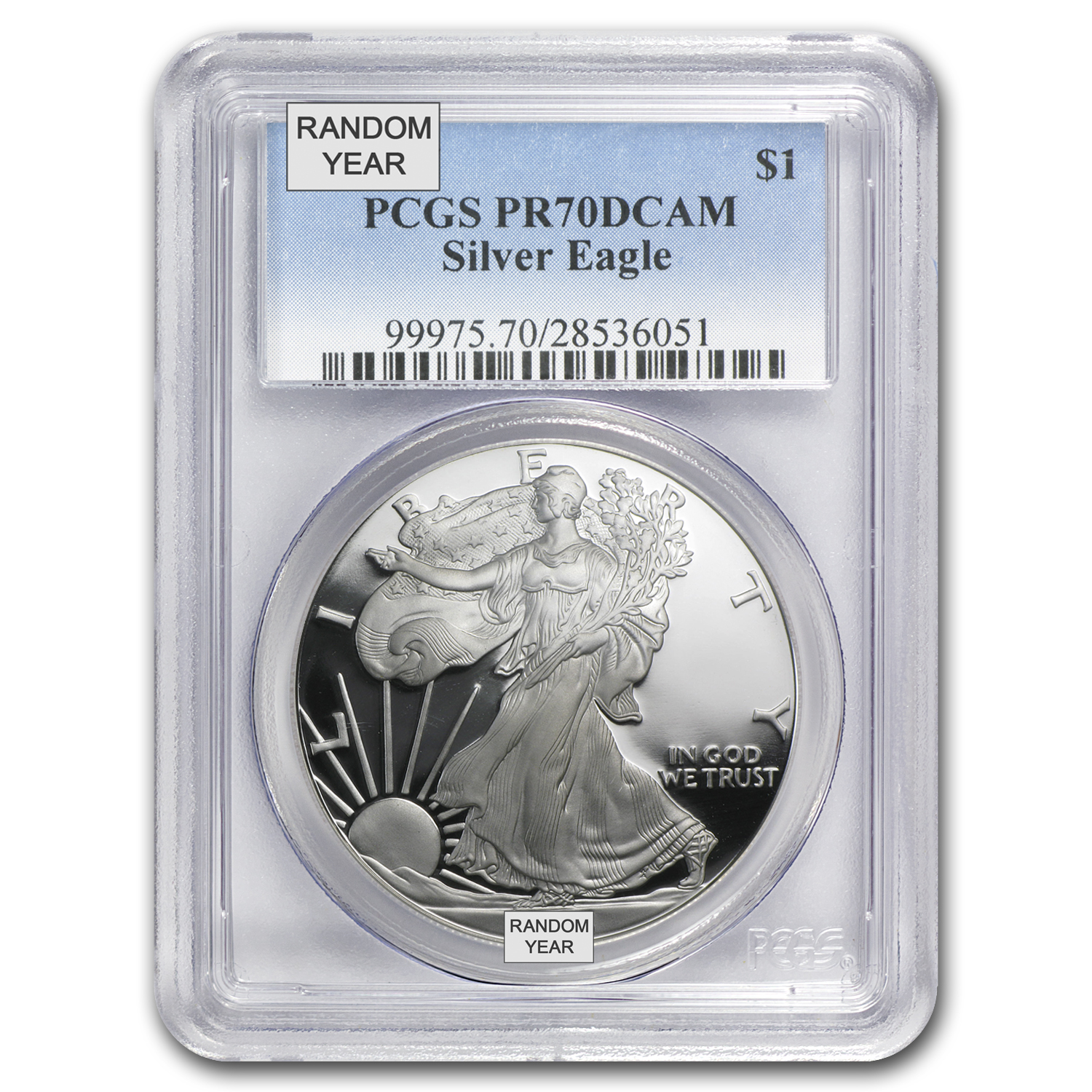 1 oz Proof Silver American Eagle PR-70 PCGS (Random Year)