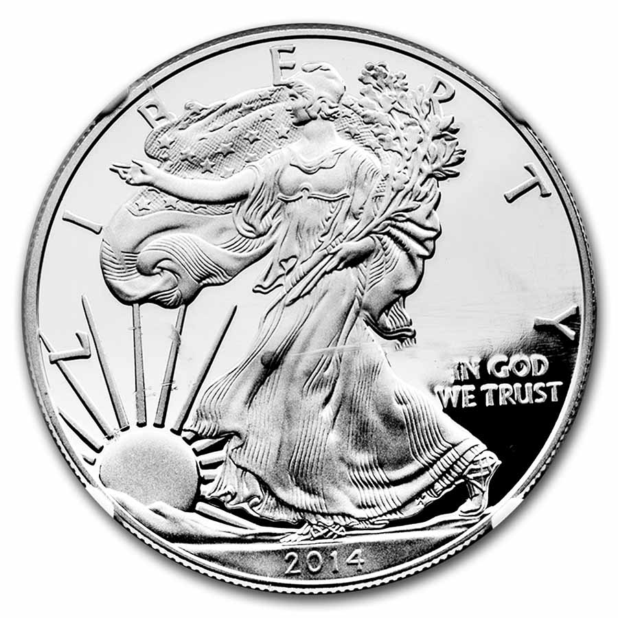 1 oz Proof Silver American Eagle PF-69 NGC (Random Year)