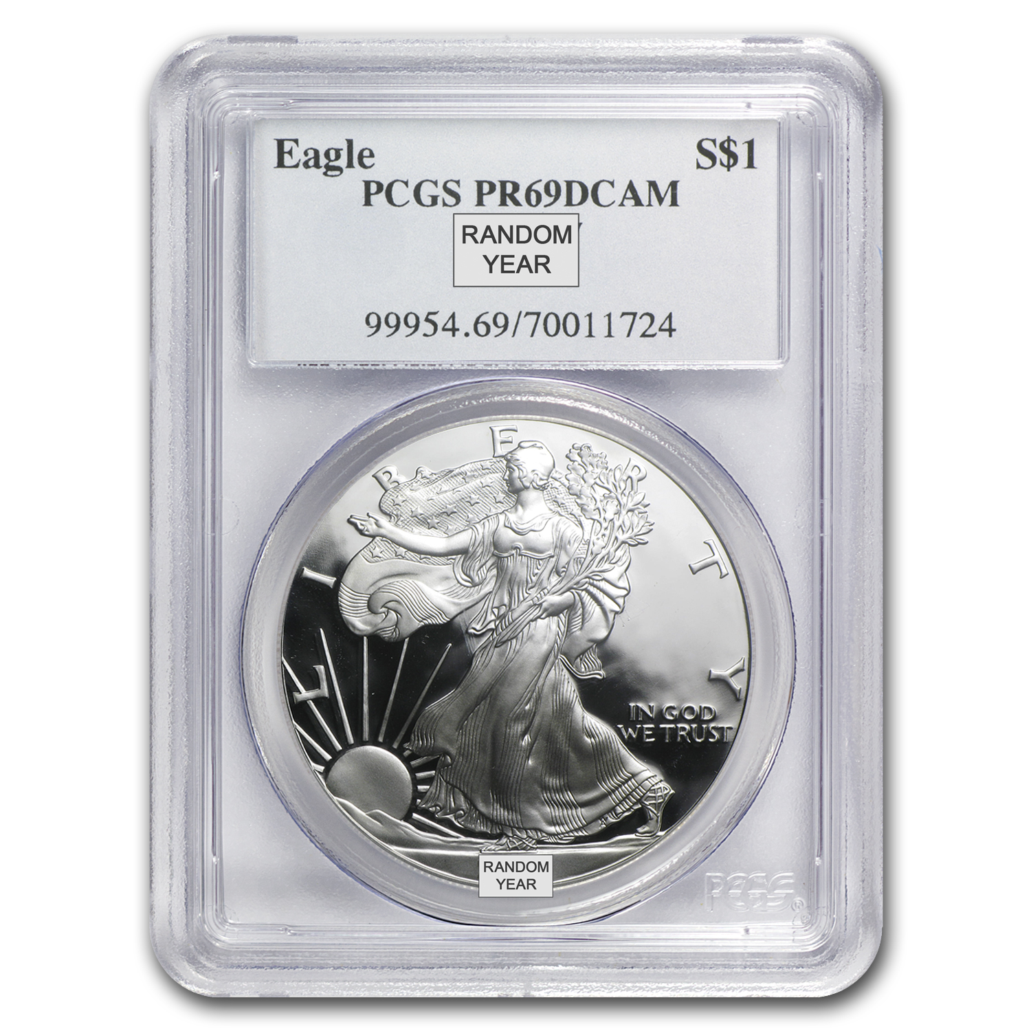 1 oz Proof Silver American Eagle PR-69 PCGS (Random Year)
