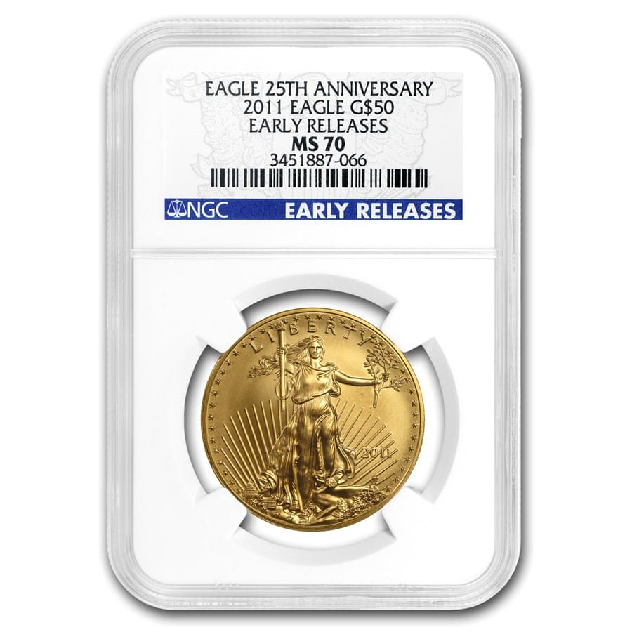 1 oz Gold American Eagle MS-70 NGC (Random Year)