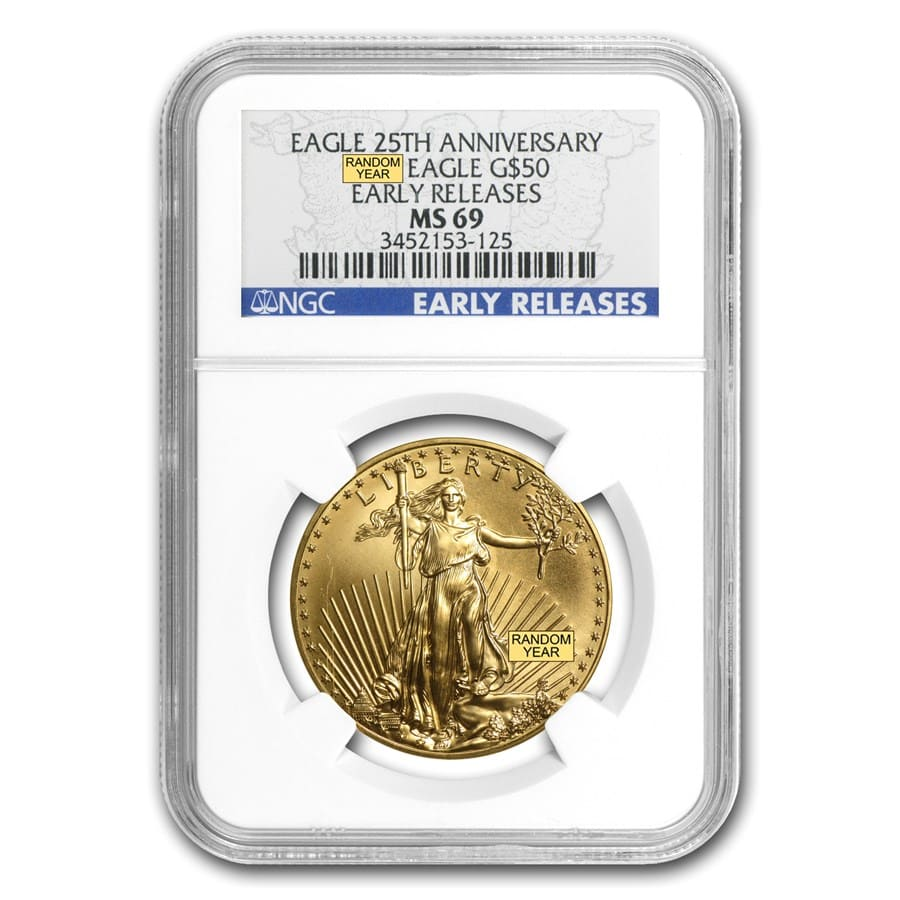 1 oz Gold American Eagle MS-69 NGC (Random Year)