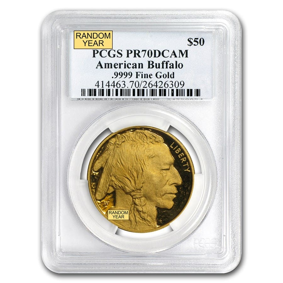 1 oz Proof Gold Buffalo PR-70 PCGS (Random Year)