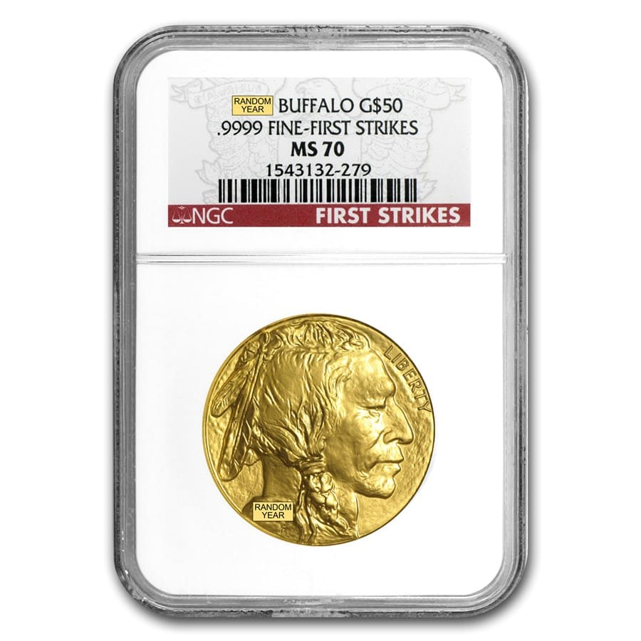 1 oz Gold Buffalo MS-70 NGC (Random Year)