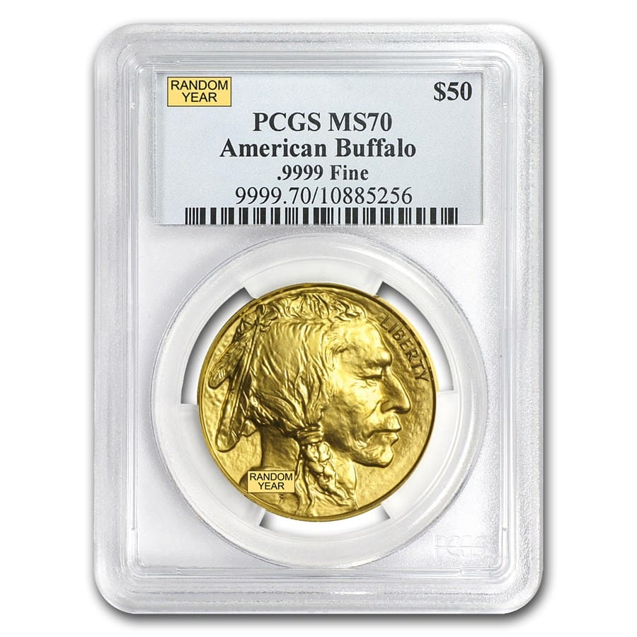 1 oz Gold Buffalo MS-70 PCGS (Random Year)