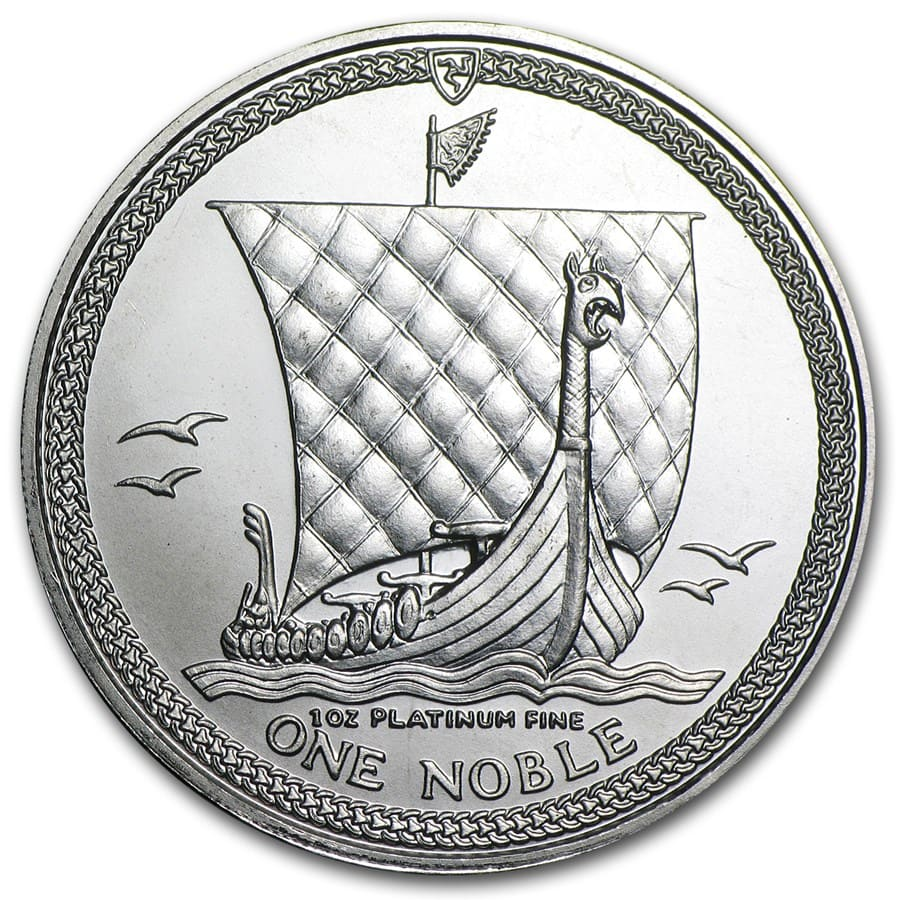 1 oz Isle of Man Platinum Noble BU