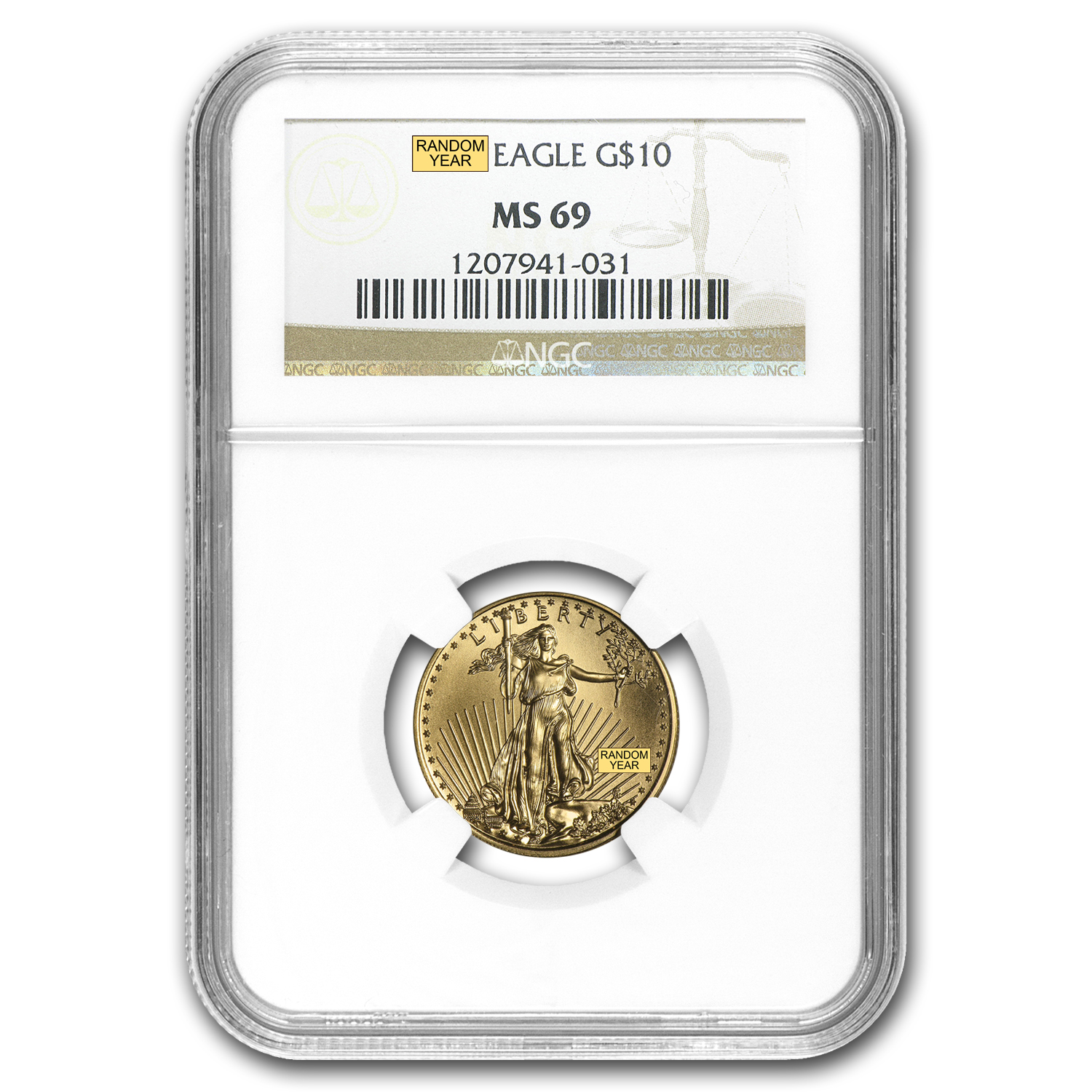 1/4 oz Gold American Eagle MS-69 NGC (Random Year)