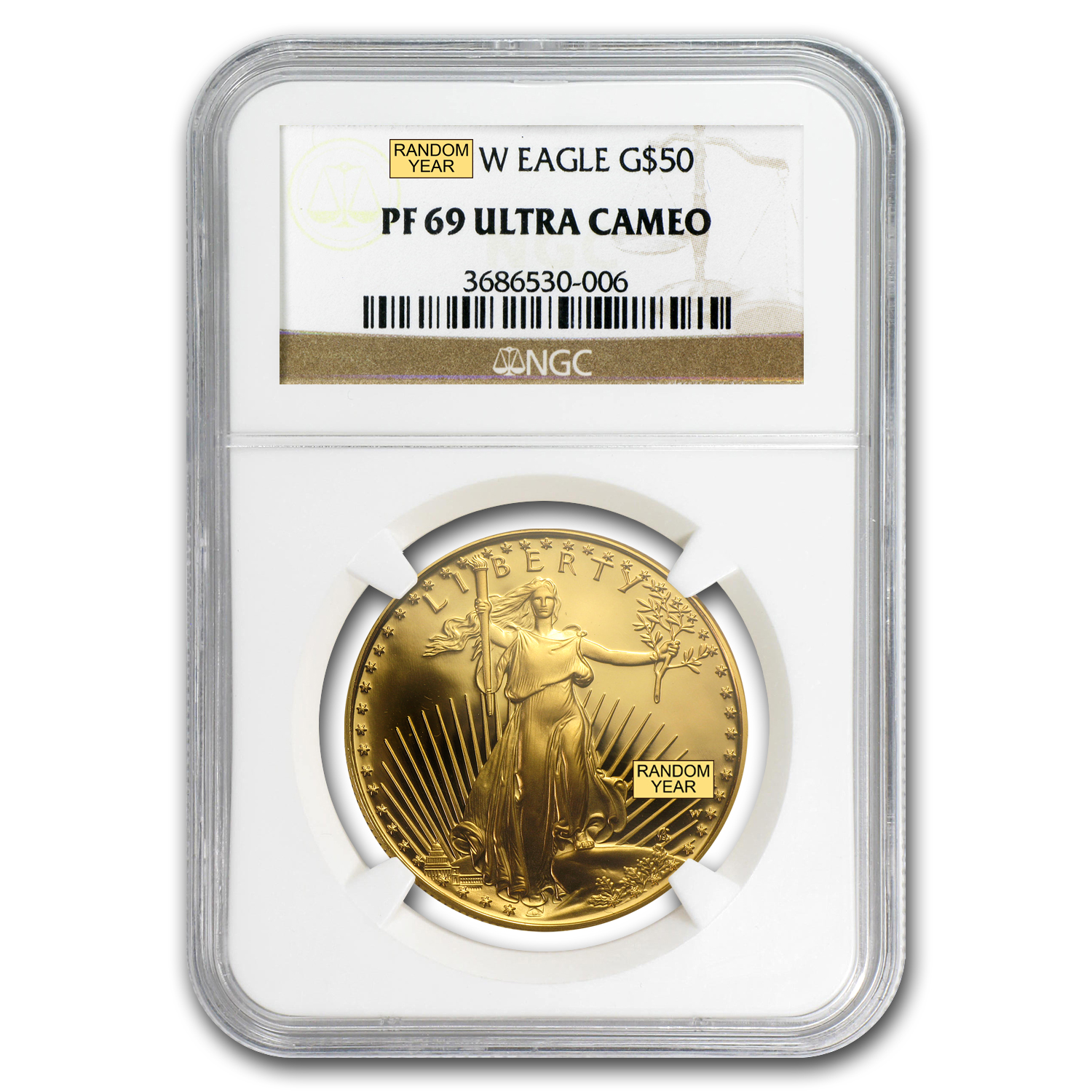 1 oz Proof Gold American Eagle PF-69 NGC (Random Year)