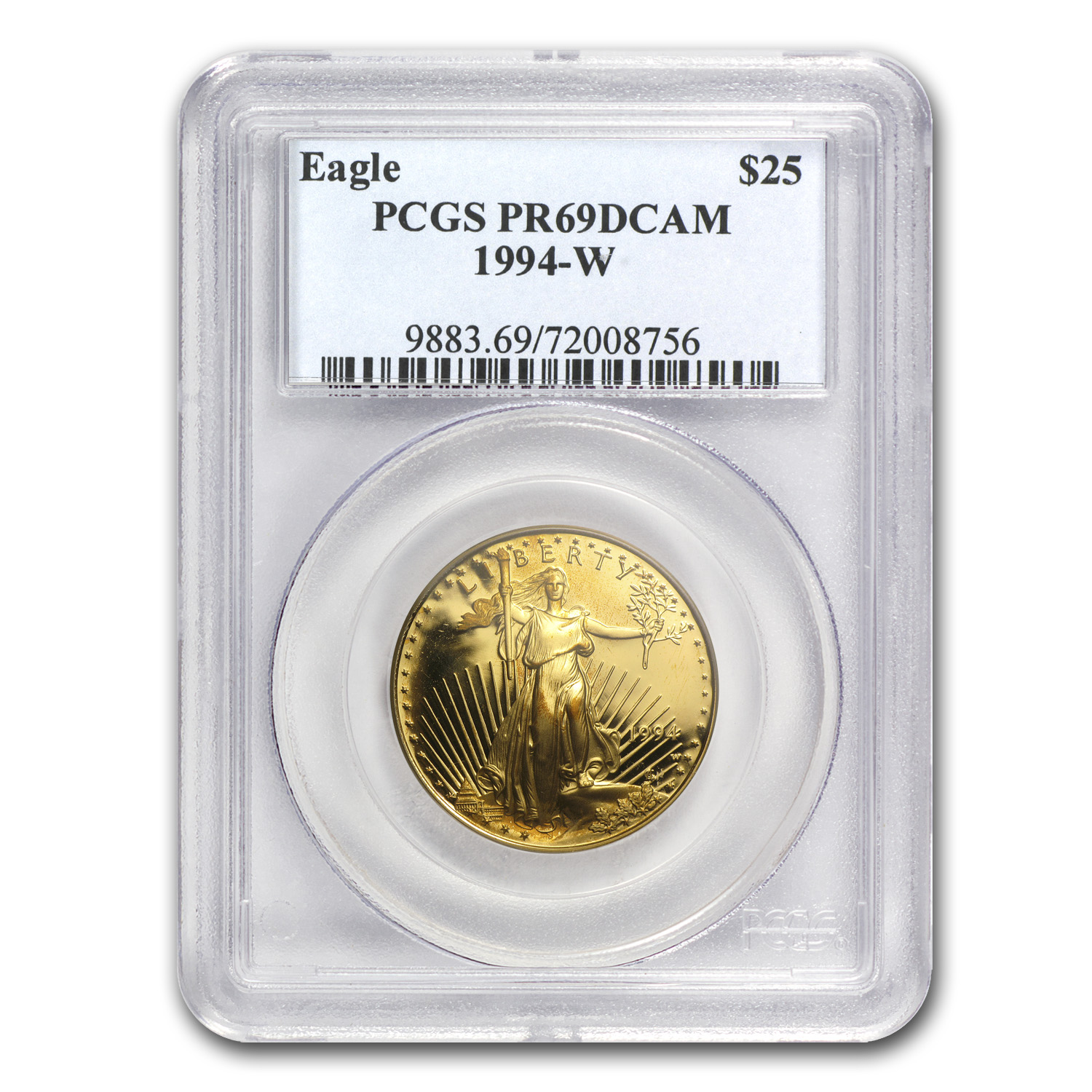 1/2 oz Proof Gold American Eagle PR-69 PCGS (Random Year)
